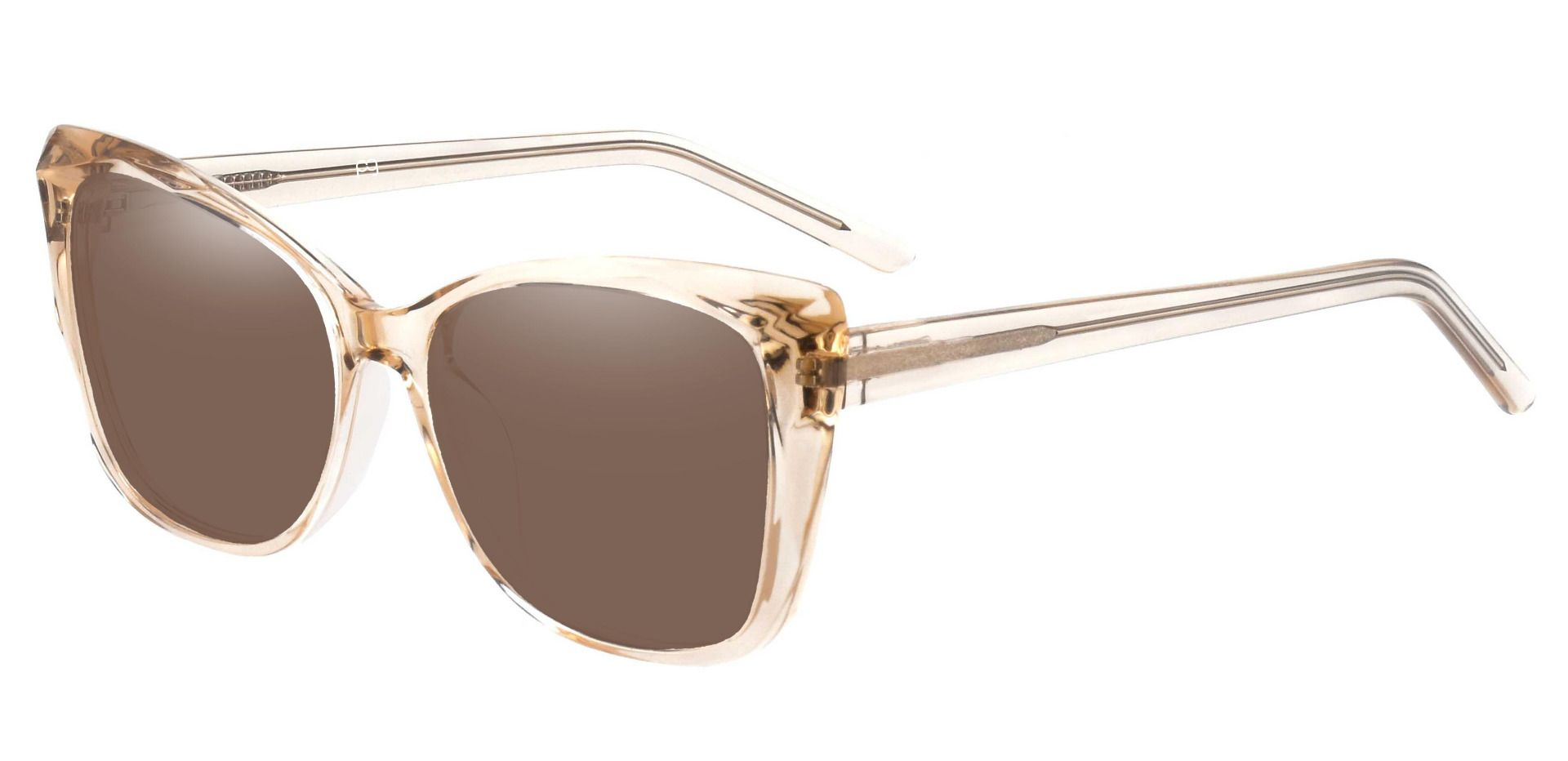 Mabel Square Non-Rx Sunglasses - Brown Frame With Brown Lenses