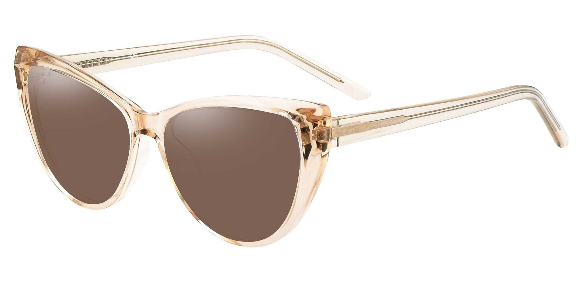 Ireland Cat Eye Non-Rx Sunglasses - Brown Frame With Brown Lenses