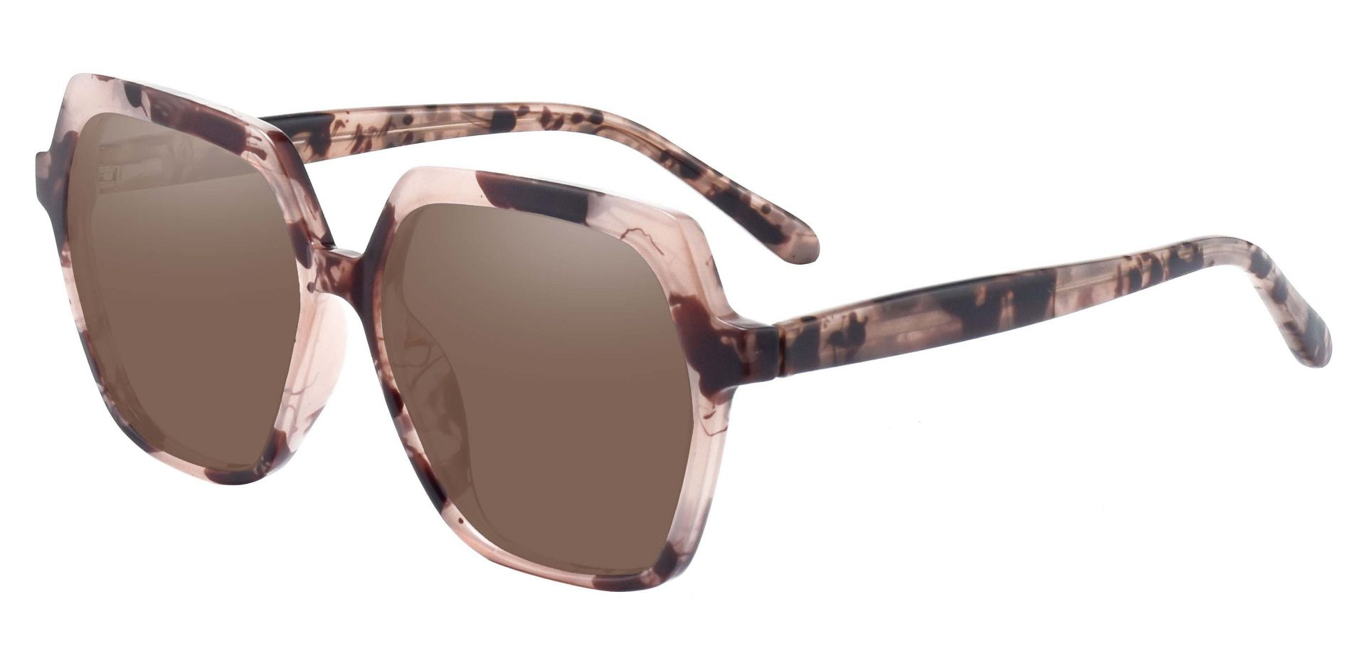 Regent Geometric Non-Rx Sunglasses - Tortoise Frame With Brown Lenses