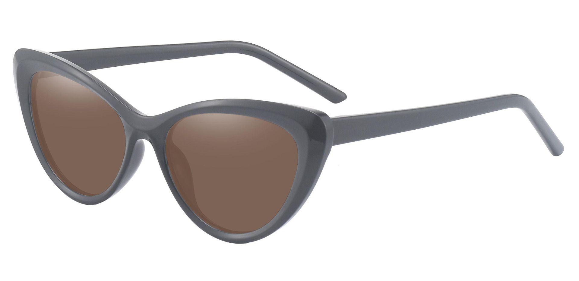 Gemini Cat Eye Prescription Sunglasses - Black Frame With Brown Lenses