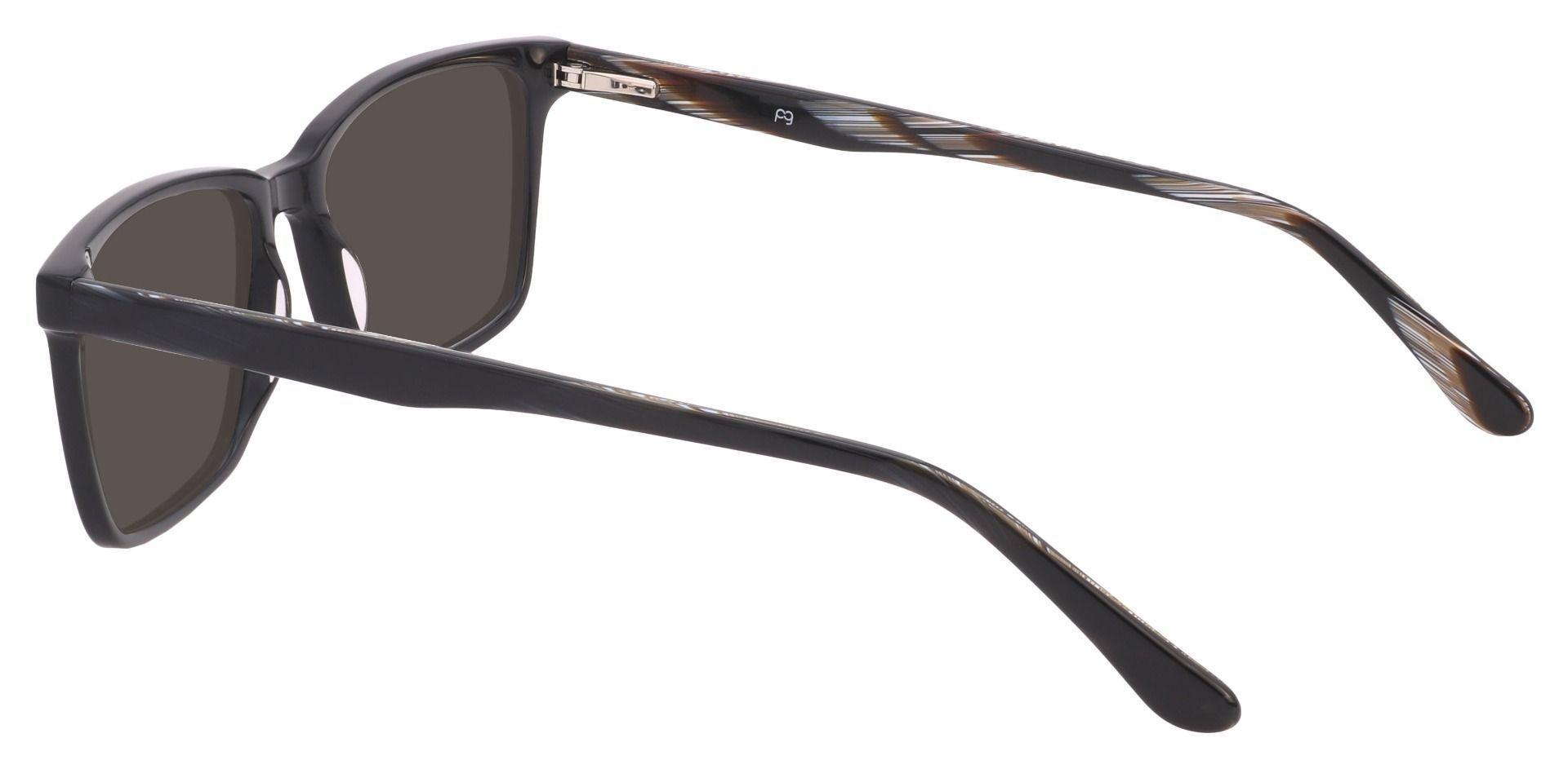 Venice Rectangle Non-Rx Sunglasses - Black Frame With Gray Lenses