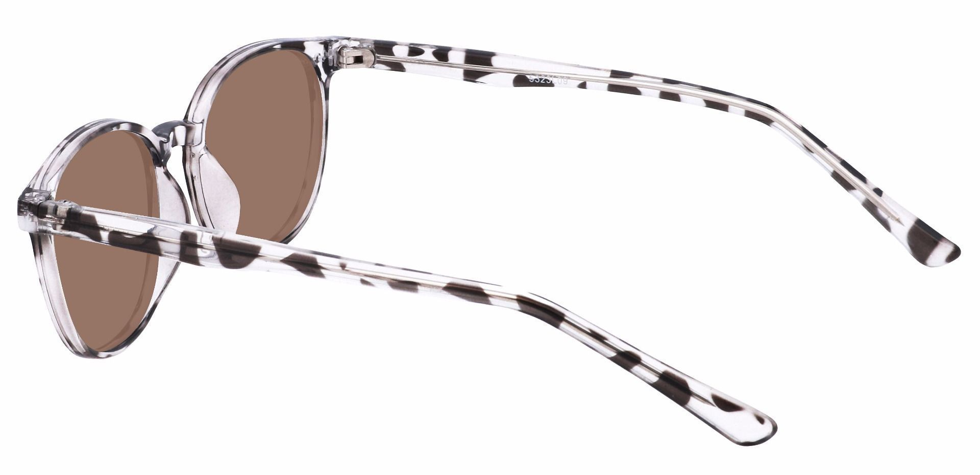 Holstein Oval Prescription Sunglasses - Leopard Frame With Brown Lenses