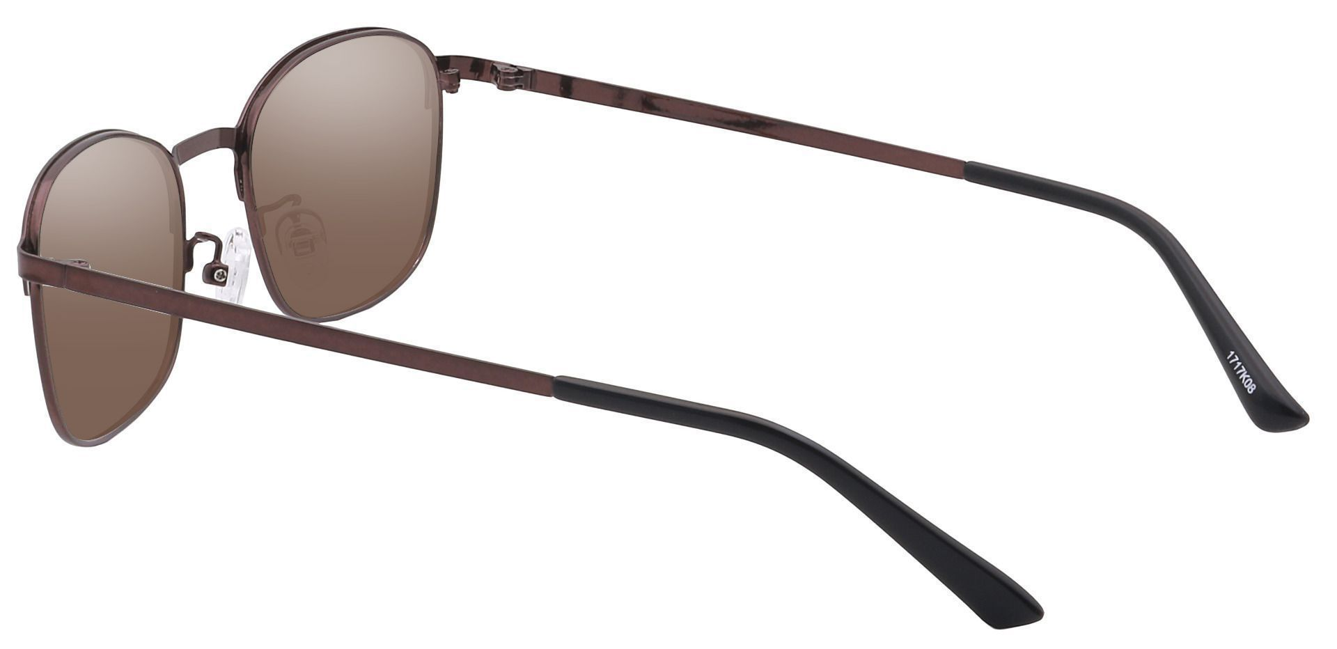 Carmen Square Non-Rx Sunglasses -  Black Frame With Brown Lenses