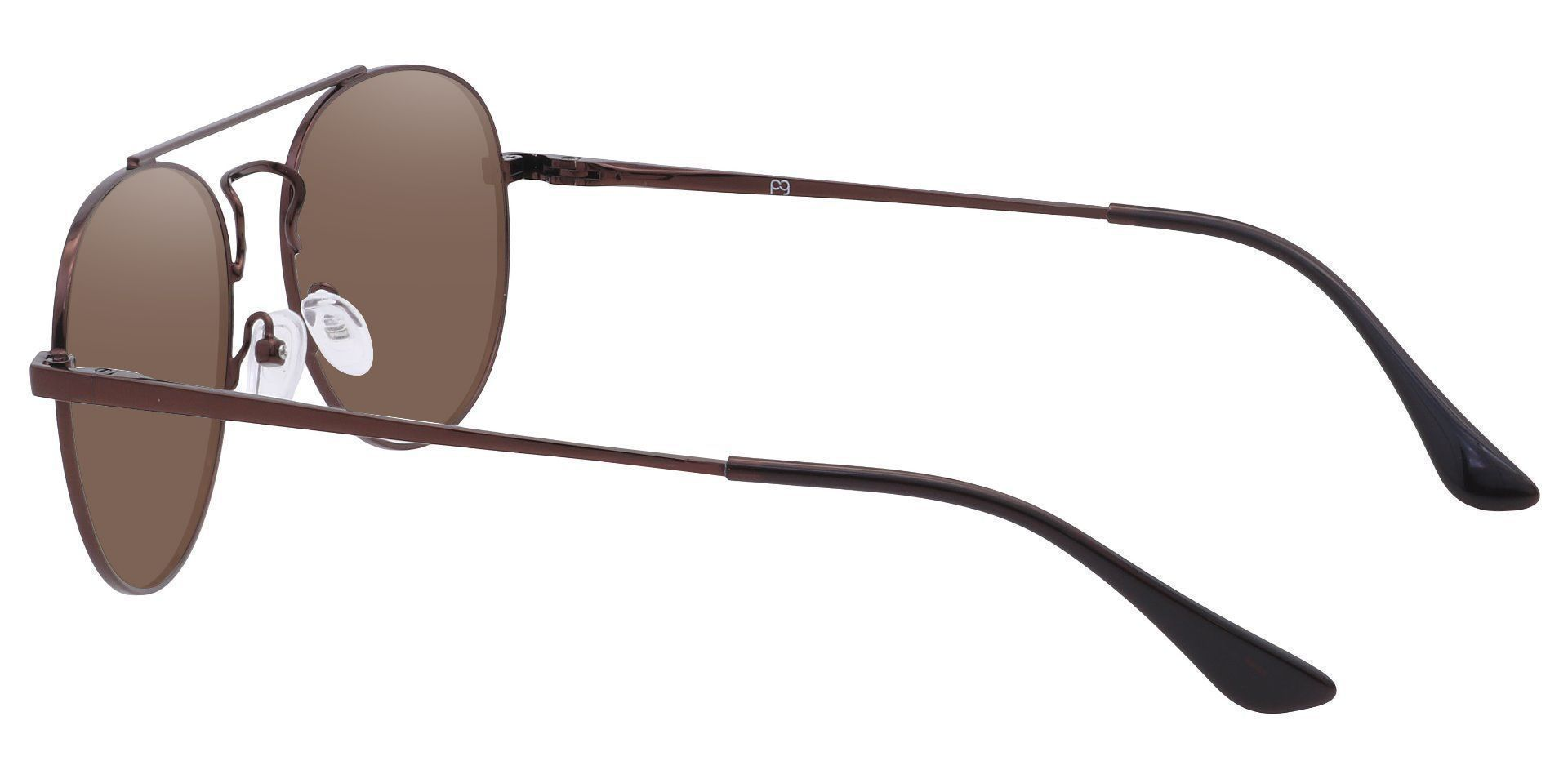 Trapp Aviator Lined Bifocal Sunglasses - Brown Frame With Brown Lenses