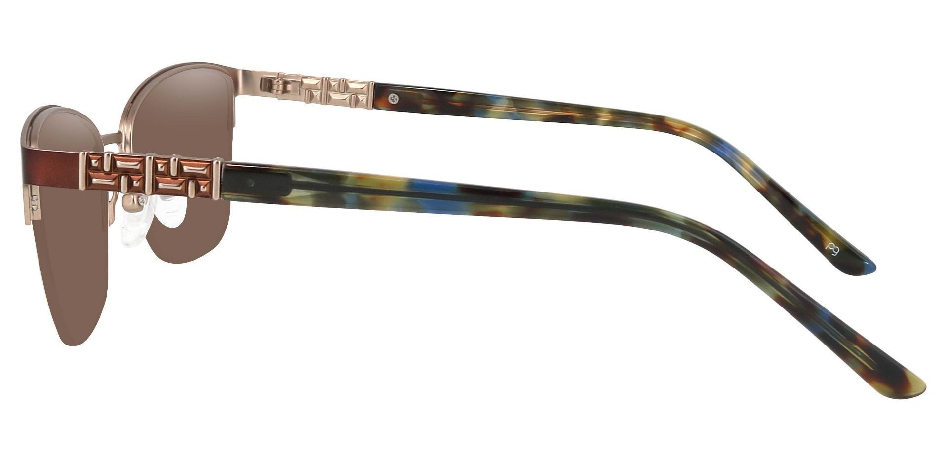 Ballad Cat Eye Prescription Sunglasses - Brown Frame With Brown Lenses