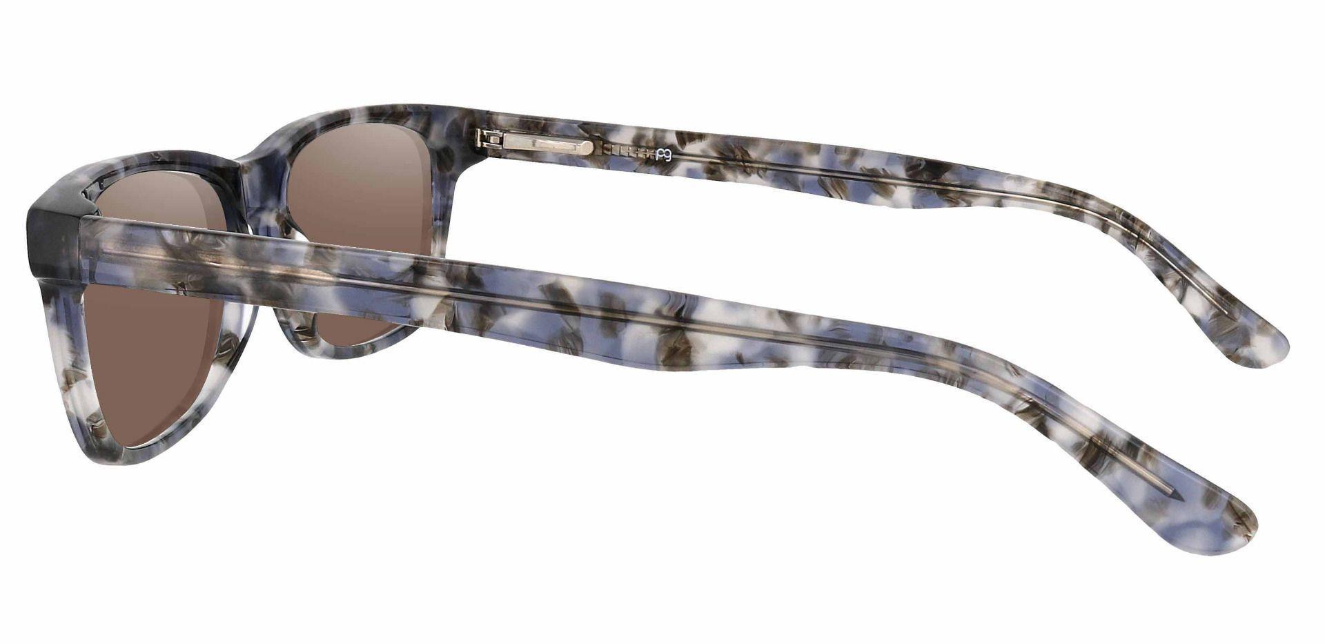 Hendrix Rectangle Prescription Sunglasses - Floral Frame With Brown Lenses