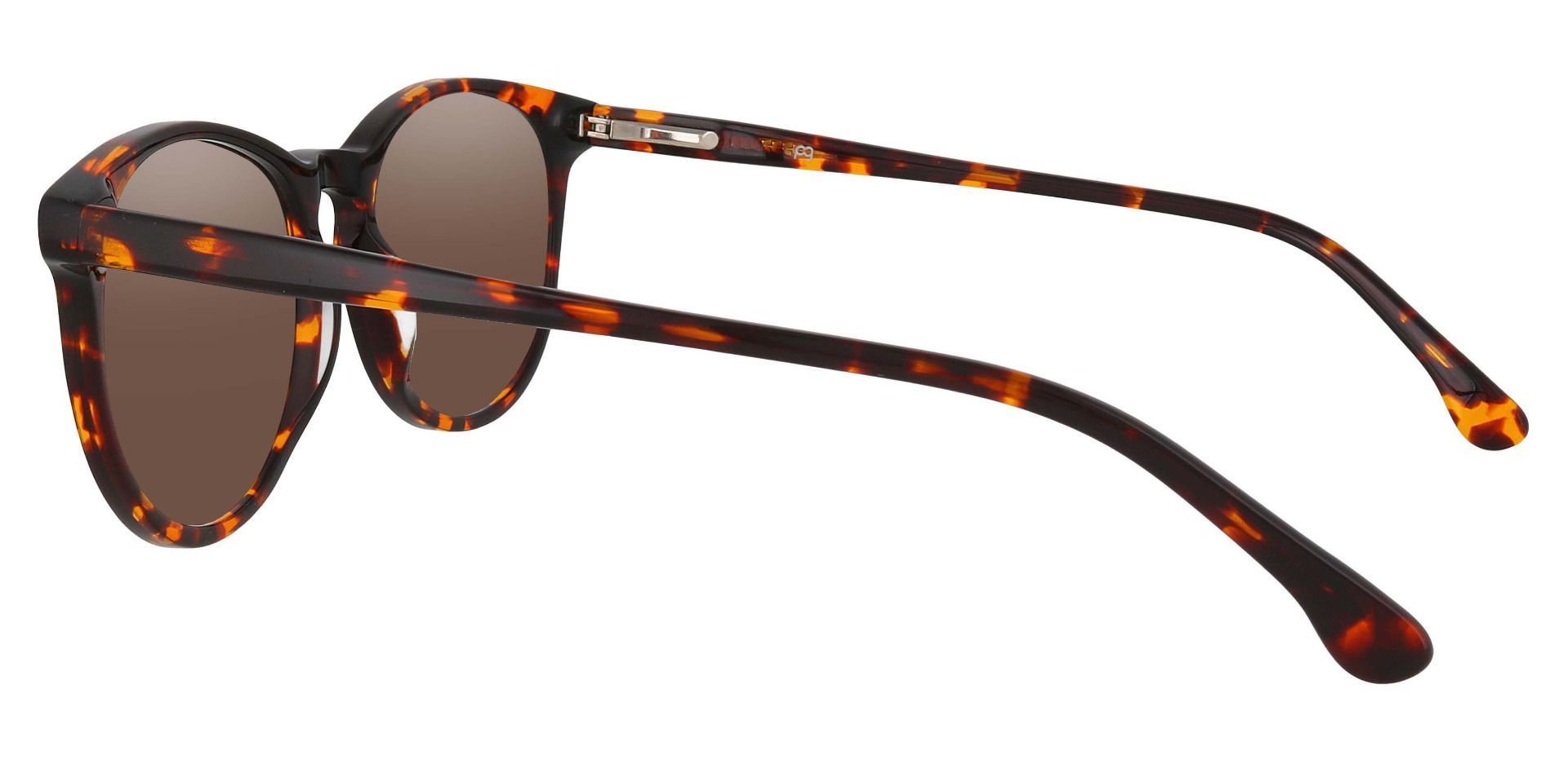 Carriage Round Prescription Sunglasses - Tortoise Frame With Brown Lenses