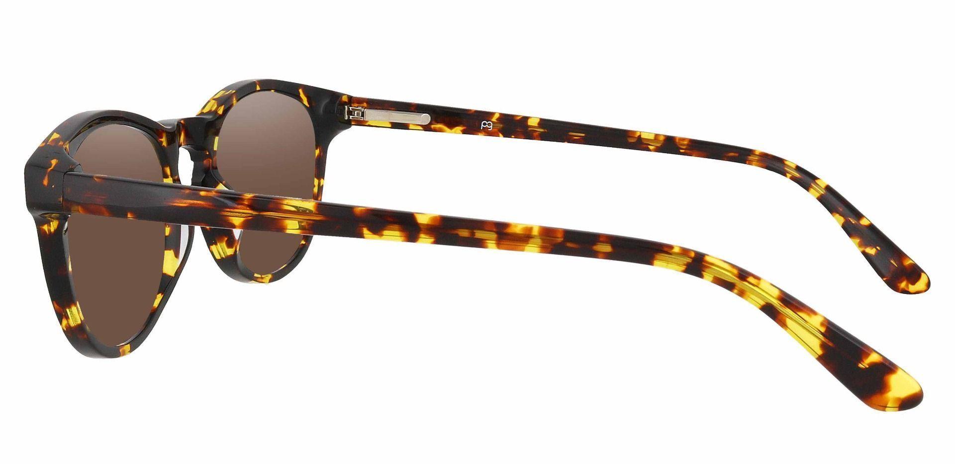 Laguna Oval Non-Rx Sunglasses - Tortoise Frame With Brown Lenses