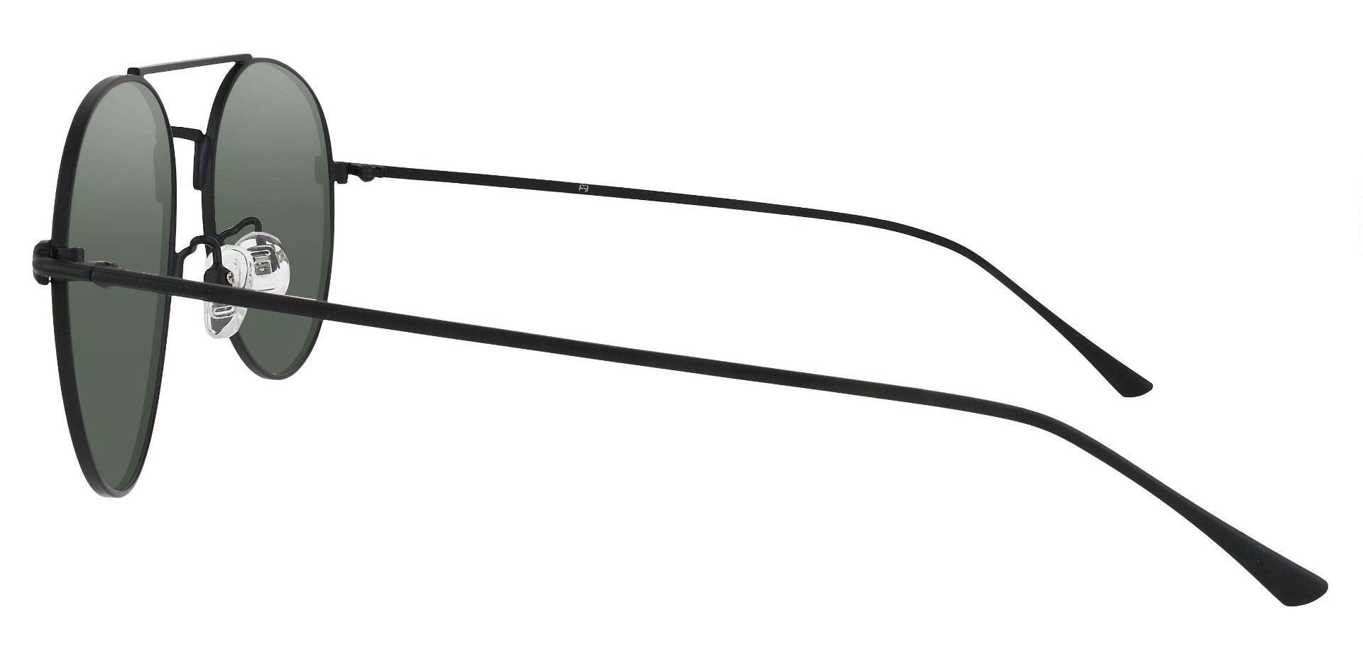 Canon Aviator Reading Sunglasses - Black Frame With Green Lenses