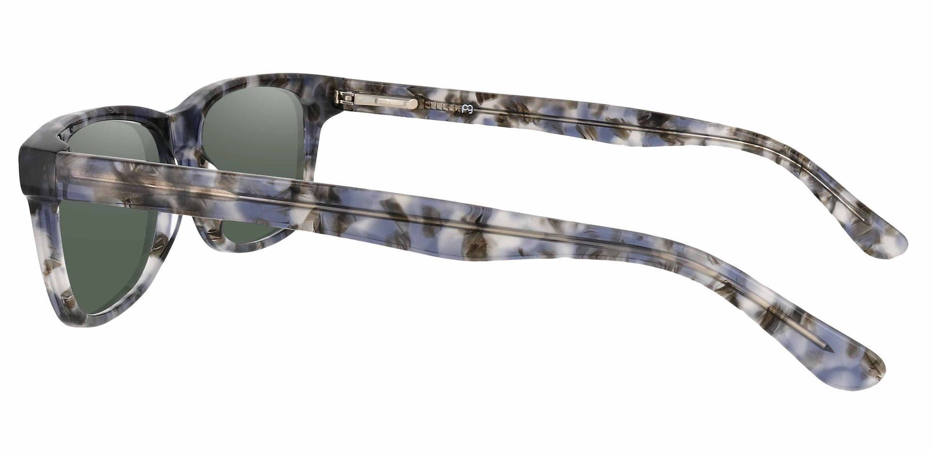 Hendrix Rectangle Prescription Sunglasses - Floral Frame With Green Lenses