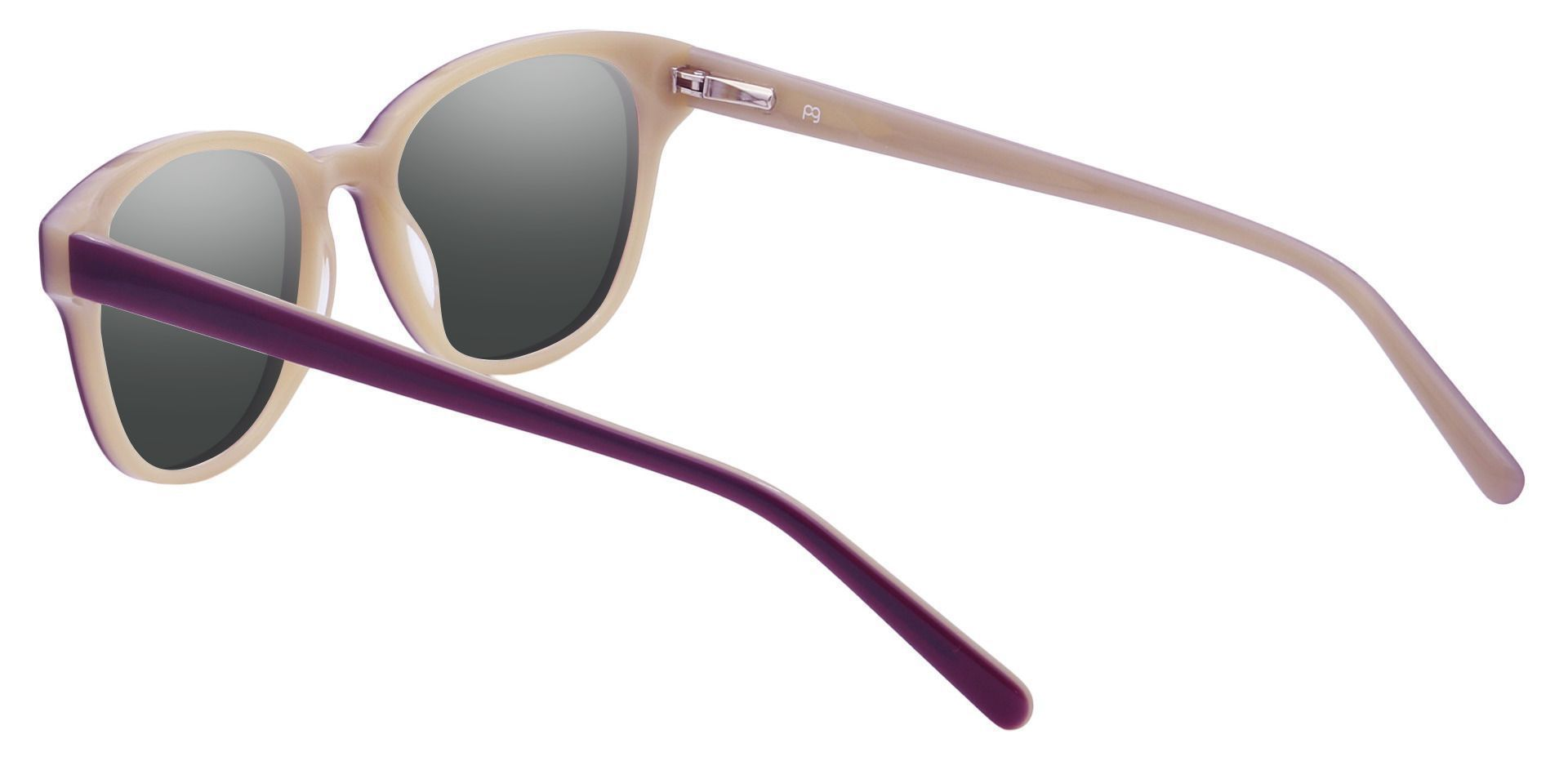 Elan Classic Square Progressive Sunglasses - Purple Frame With Gray Lenses