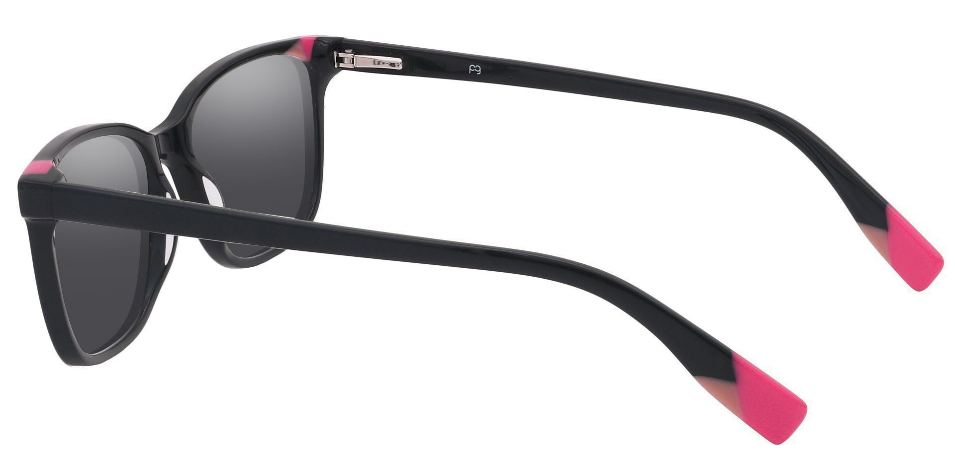 Odessa Square Prescription Sunglasses - Red Frame With Gray Lenses