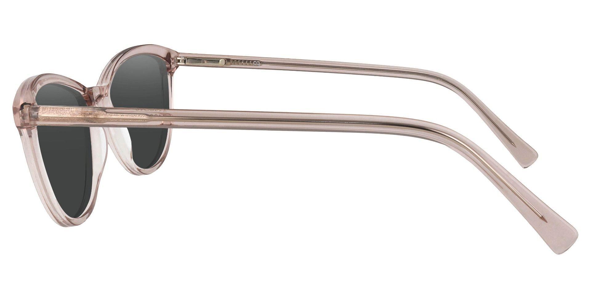 Annie Cat Eye Prescription Sunglasses - Orange Frame With Gray Lenses