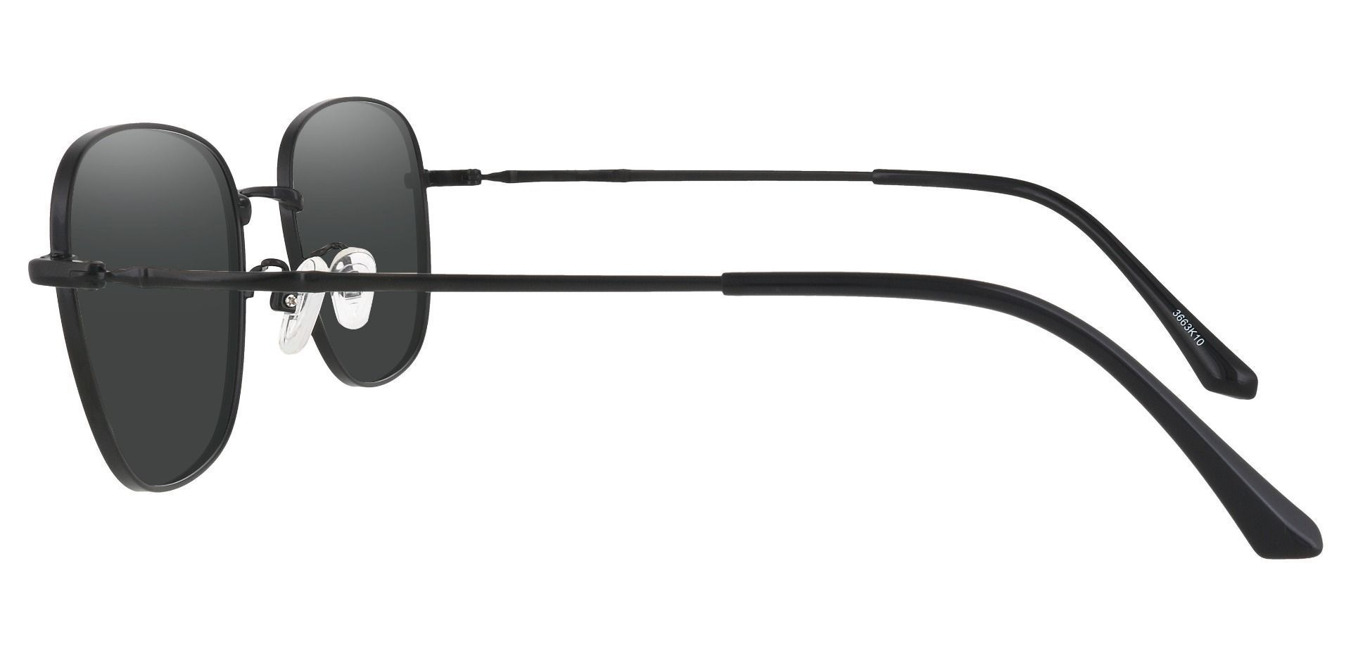 Fresno Square Prescription Sunglasses - Black Frame With Gray Lenses