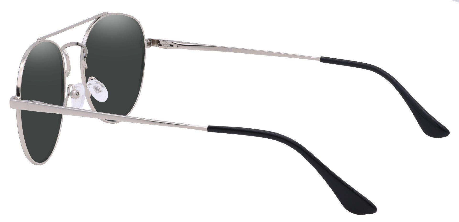Trapp Aviator Lined Bifocal Sunglasses - Gray Frame With Gray Lenses