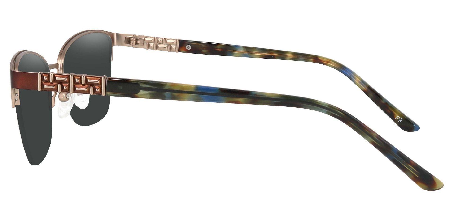 Ballad Cat Eye Progressive Sunglasses - Brown Frame With Gray Lenses