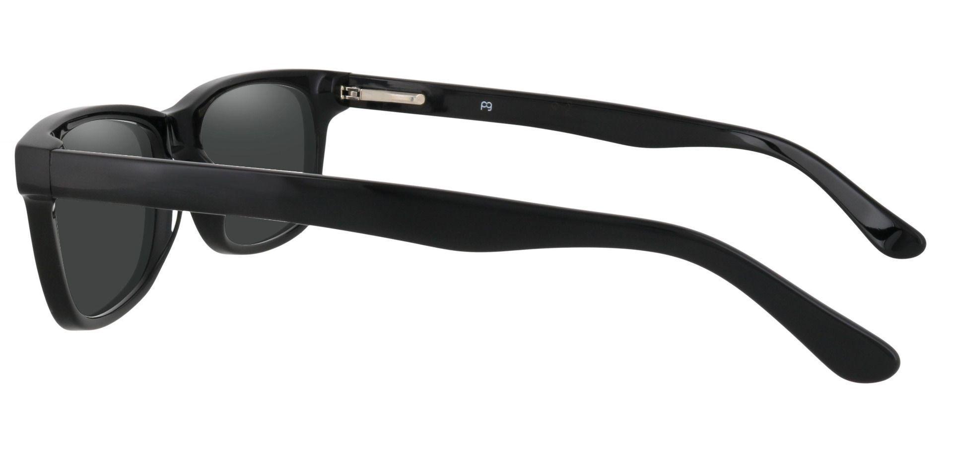 Hendrix Rectangle Progressive Sunglasses - Black Frame With Gray Lenses