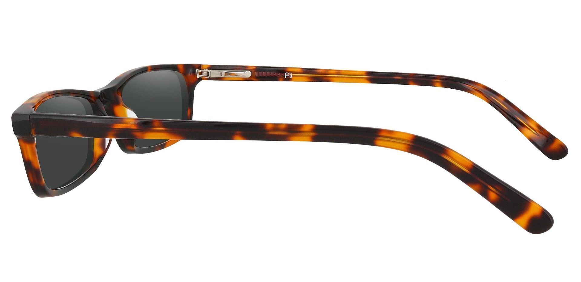 Palisades Rectangle Single Vision Sunglasses - Tortoise Frame With Gray Lenses