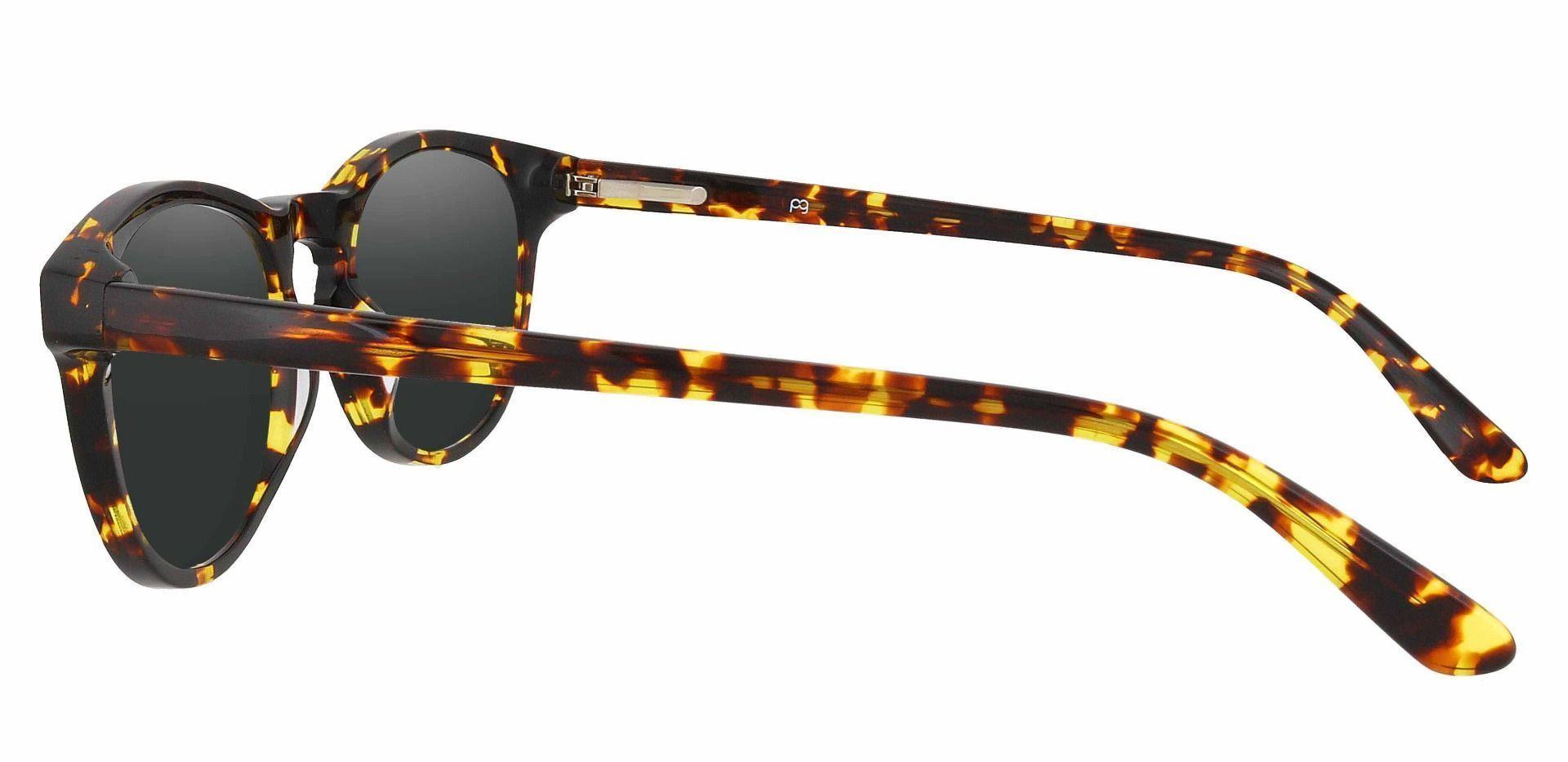 Laguna Oval Prescription Sunglasses - Tortoise Frame With Gray Lenses