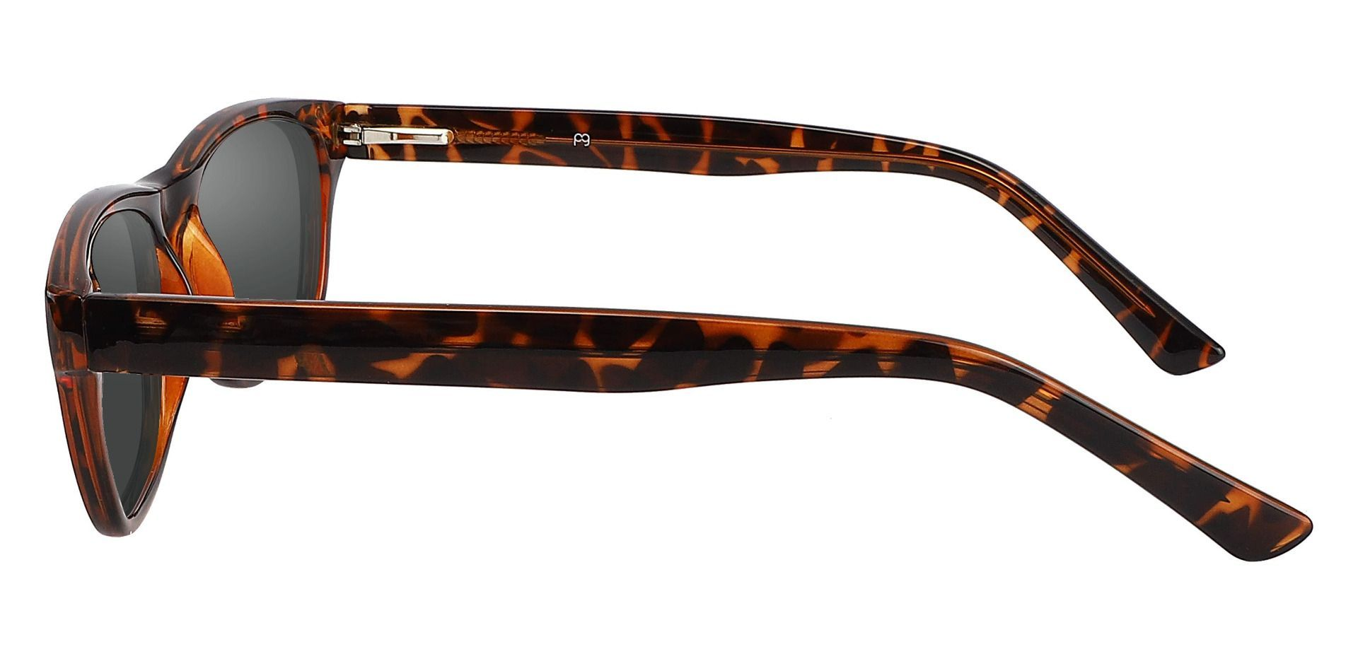 Citrus Rectangle Prescription Sunglasses - Tortoise Frame With Gray Lenses