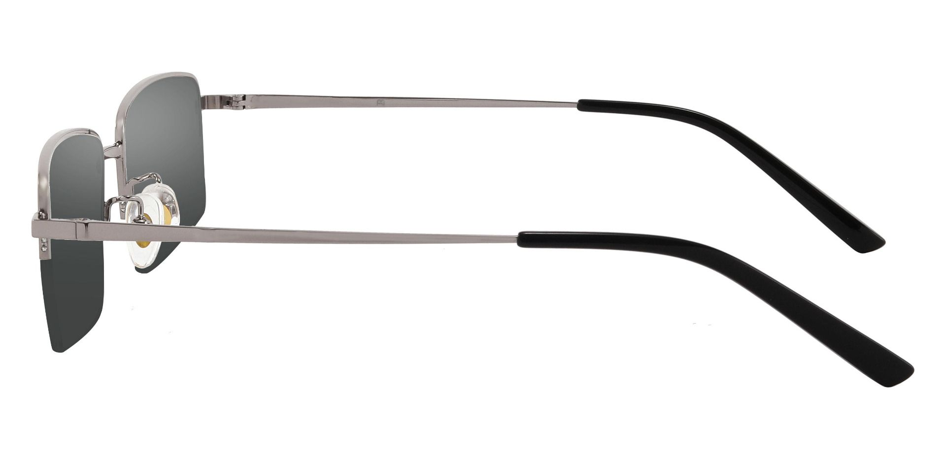 Wayne Rectangle Prescription Sunglasses - Gray Frame With Gray Lenses