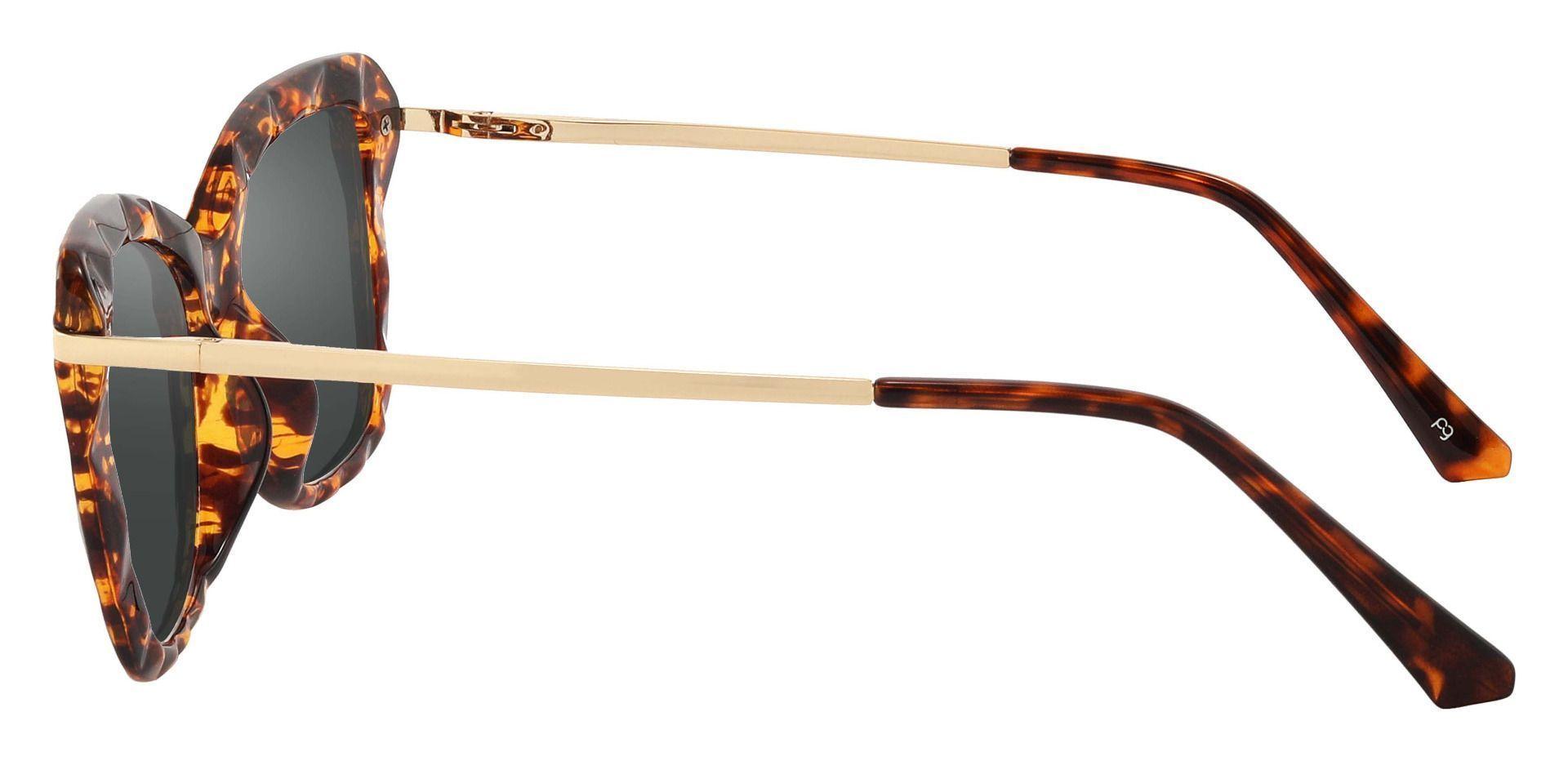 Shoshanna Rectangle Prescription Sunglasses - Tortoise Frame With Gray Lenses