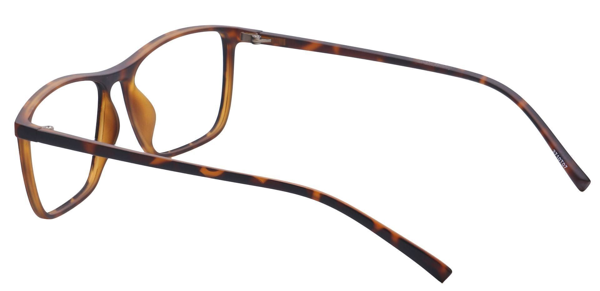 Candid Rectangle Eyeglasses Frame - Tortoise