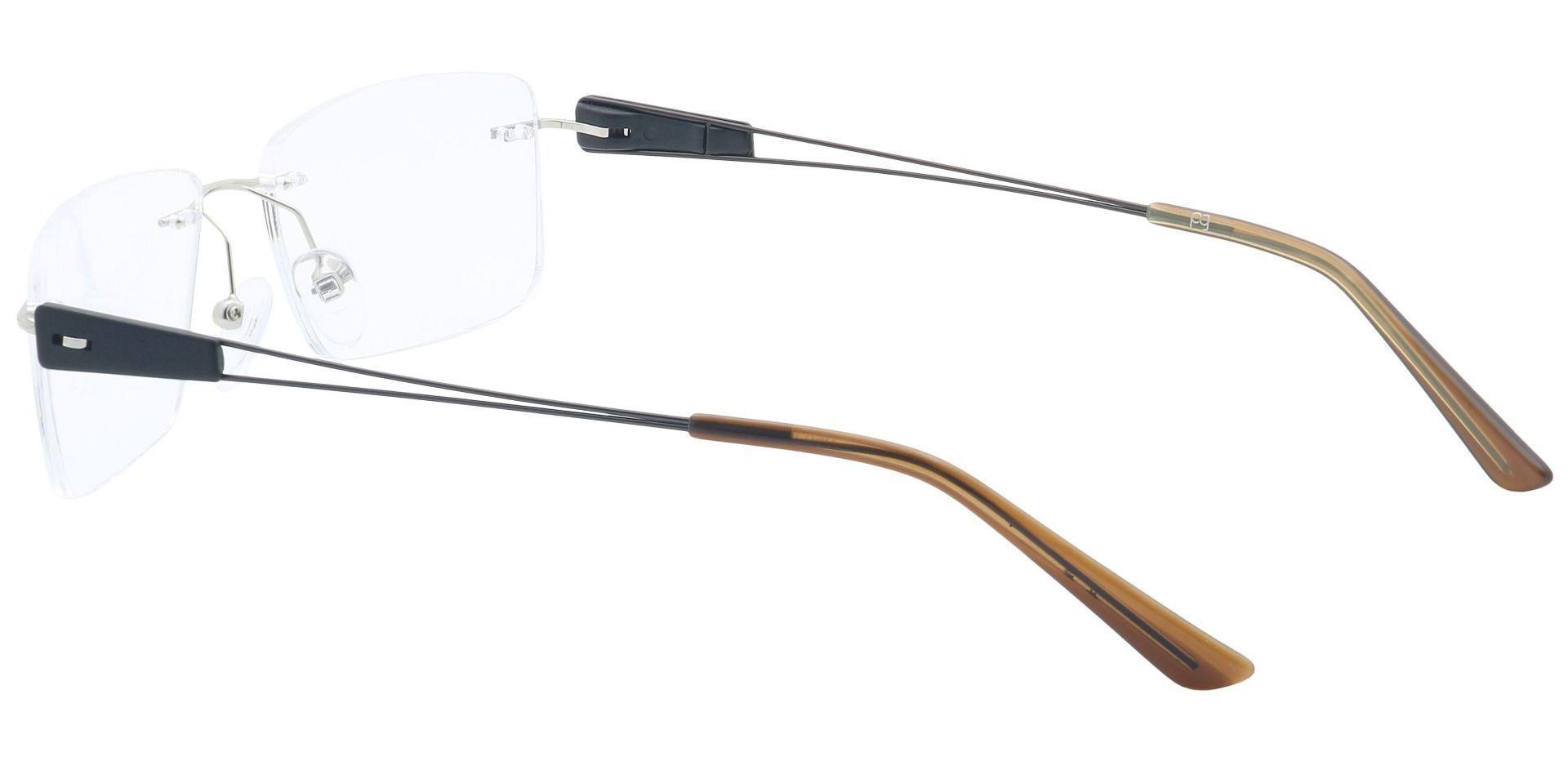 River Rimless Non-Rx Glasses - Clear