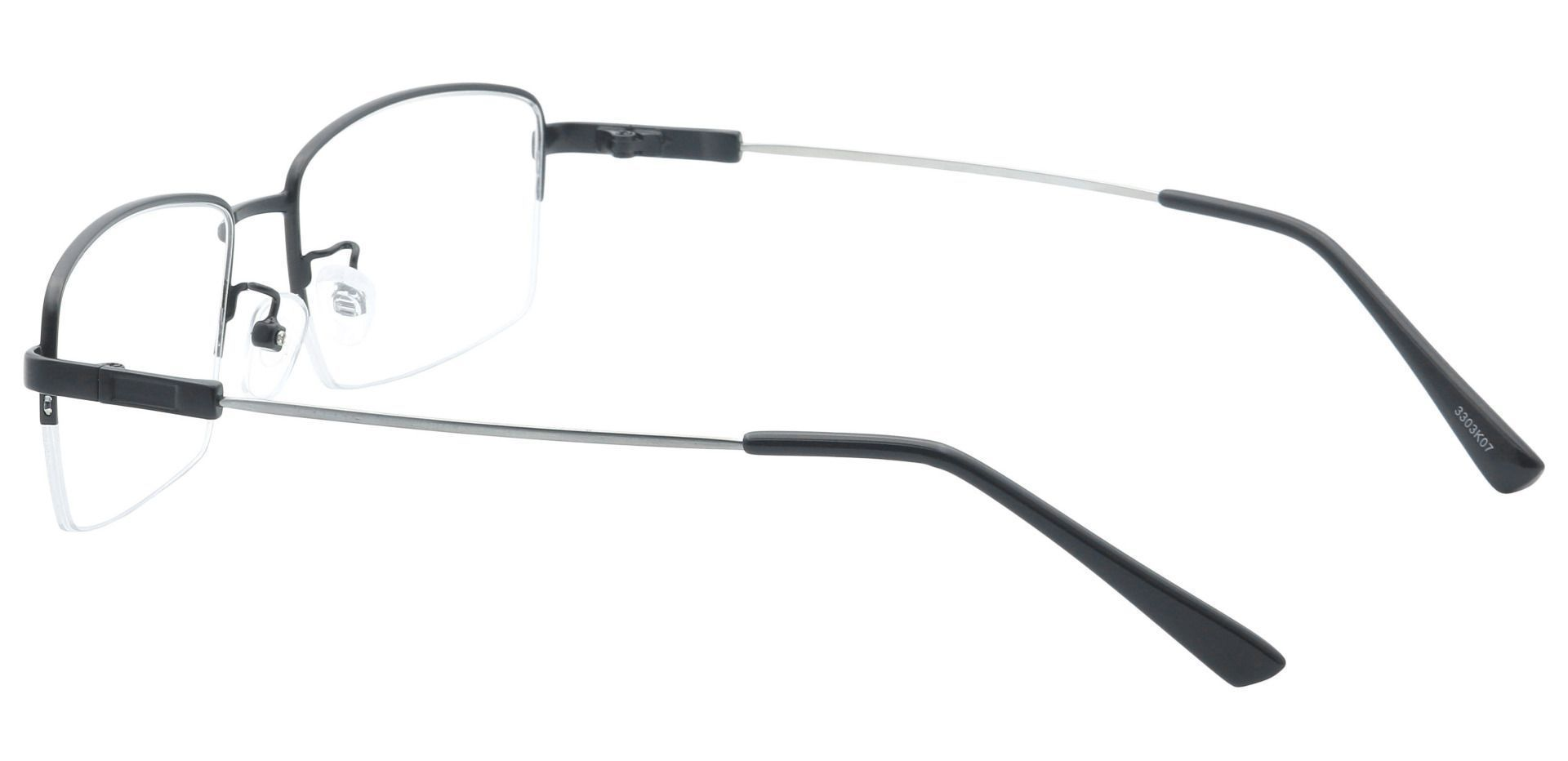 Zander Rectangle Progressive Glasses - Black