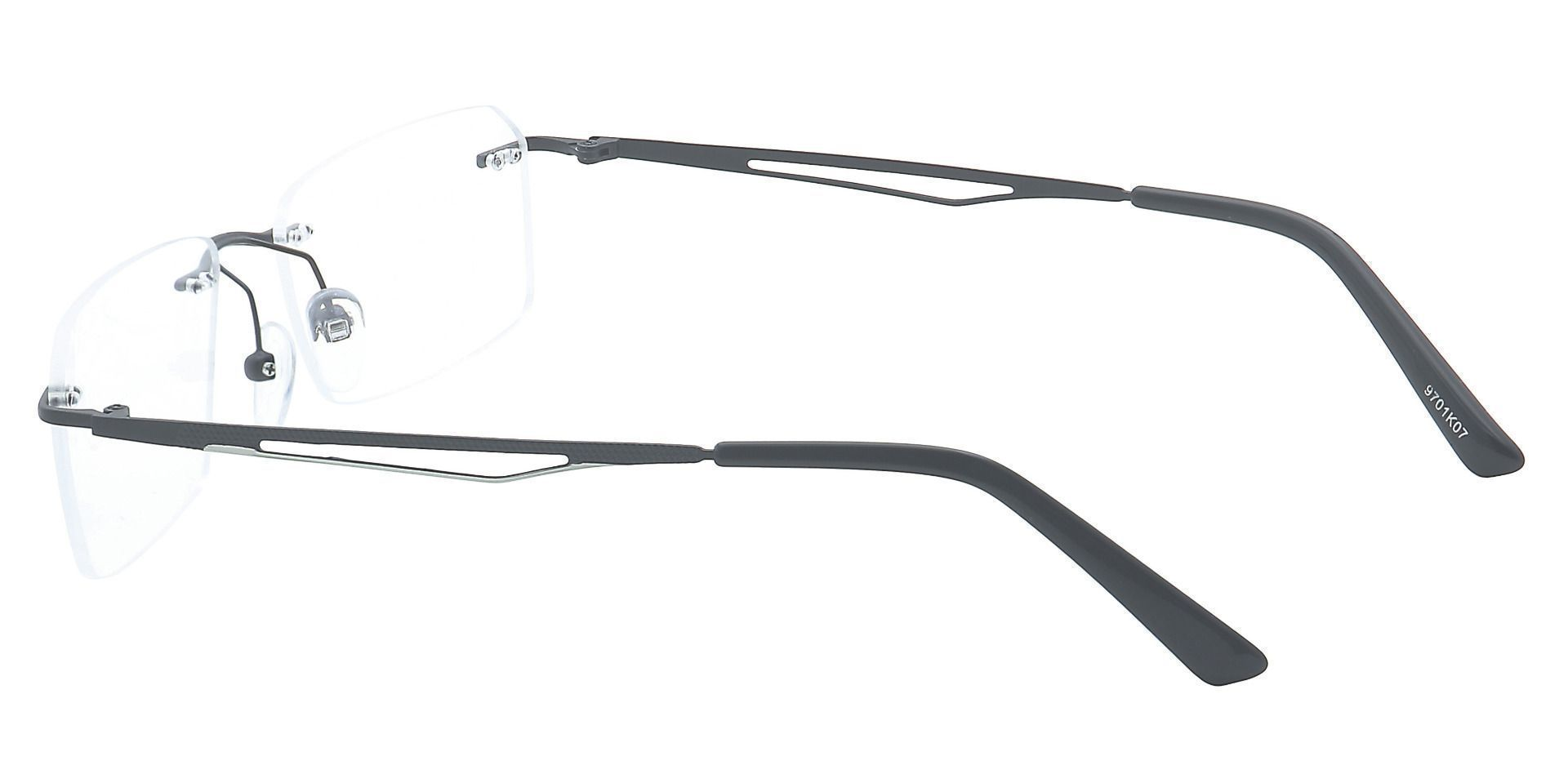 Finesse Rimless Lined Bifocal Glasses - Black