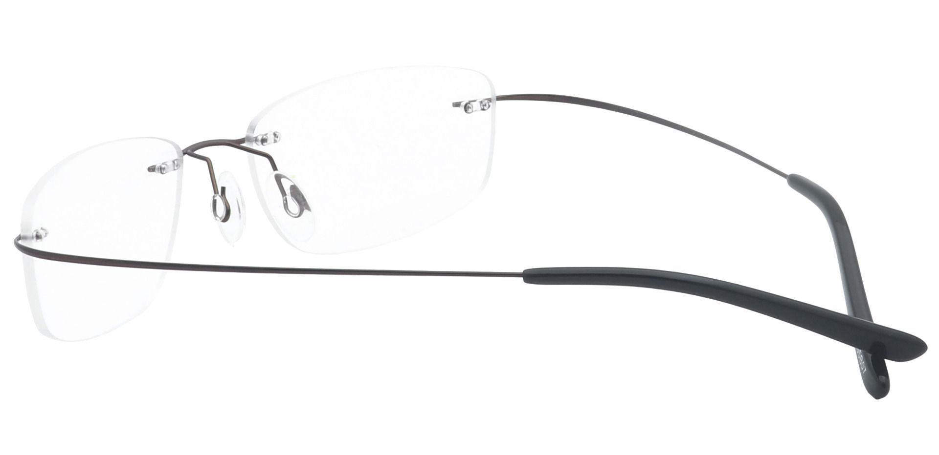 Jennie Rimless Lined Bifocal Glasses - Brown