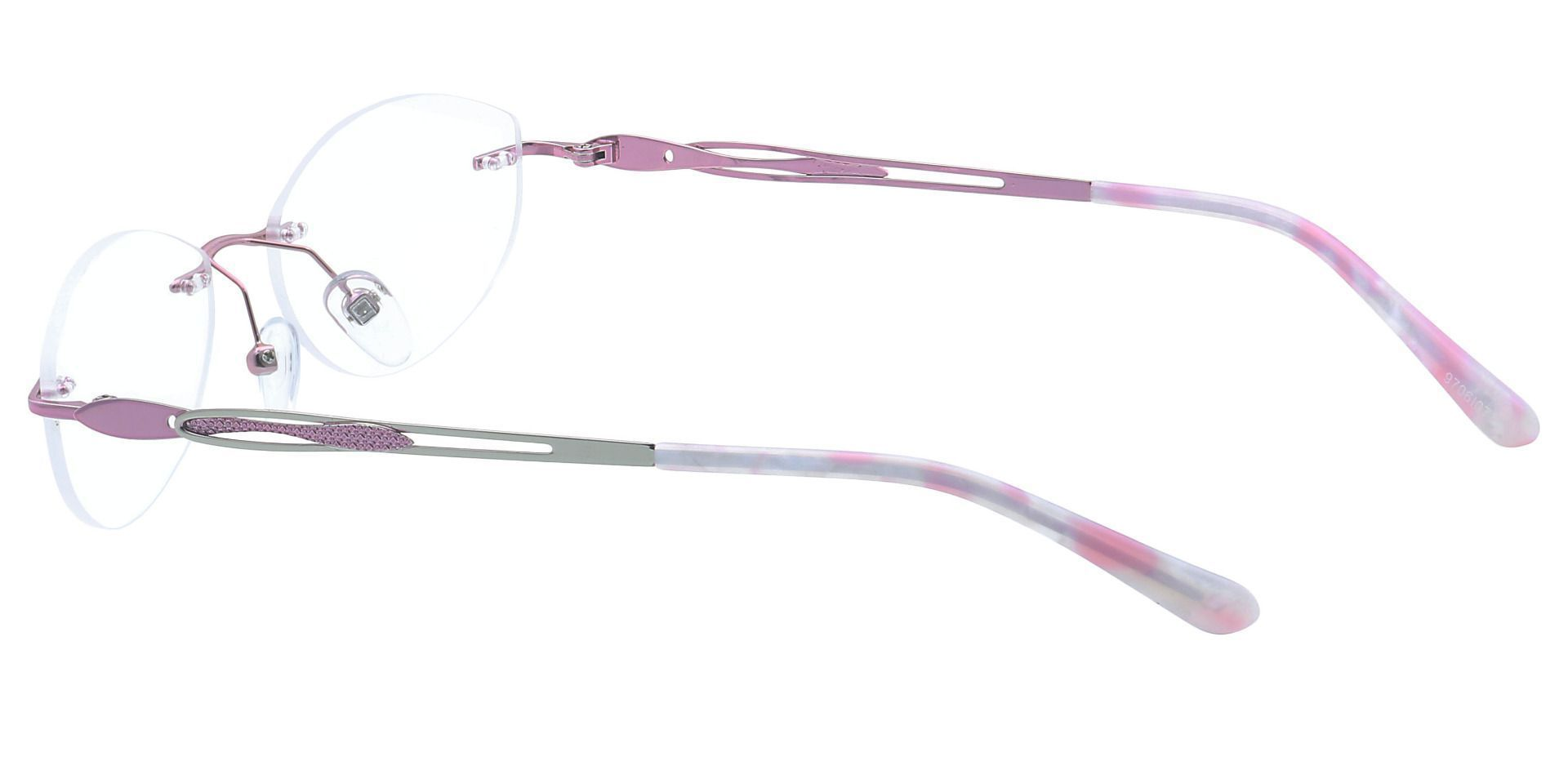 Fairy Rimless Prescription Glasses - Pink