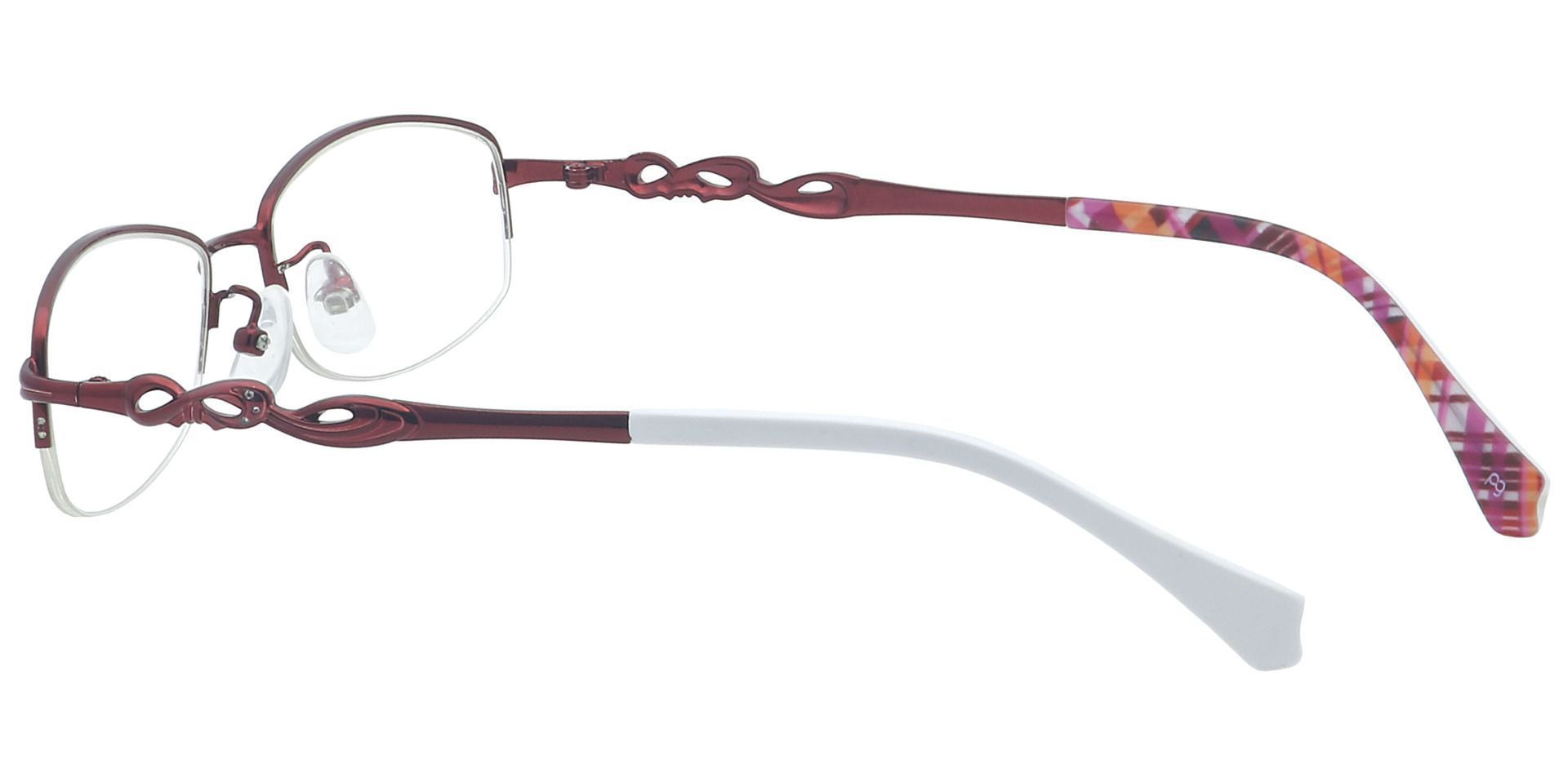 Deana Rectangle Blue Light Blocking Glasses - Red