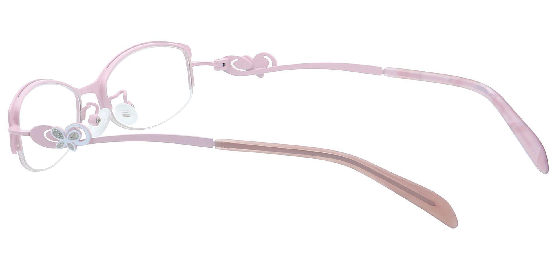 April Oval Single Vision Glasses - Pink