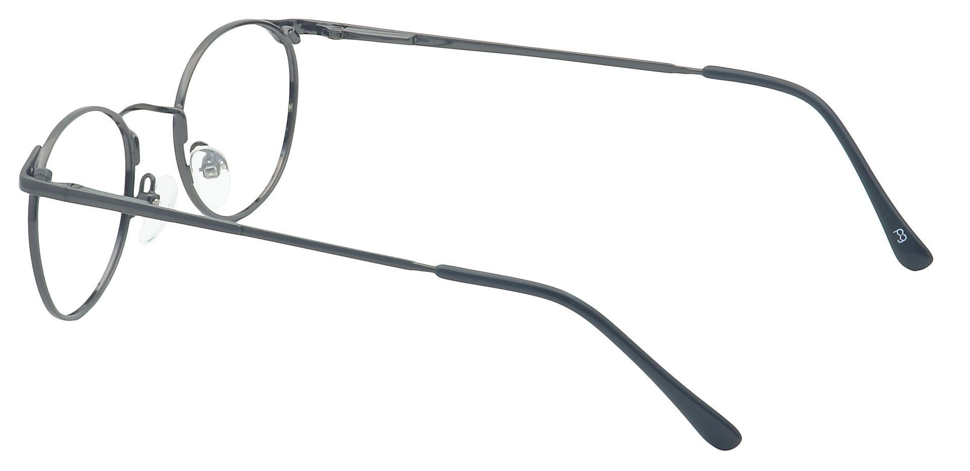 Collen Round Lined Bifocal Glasses - Gray