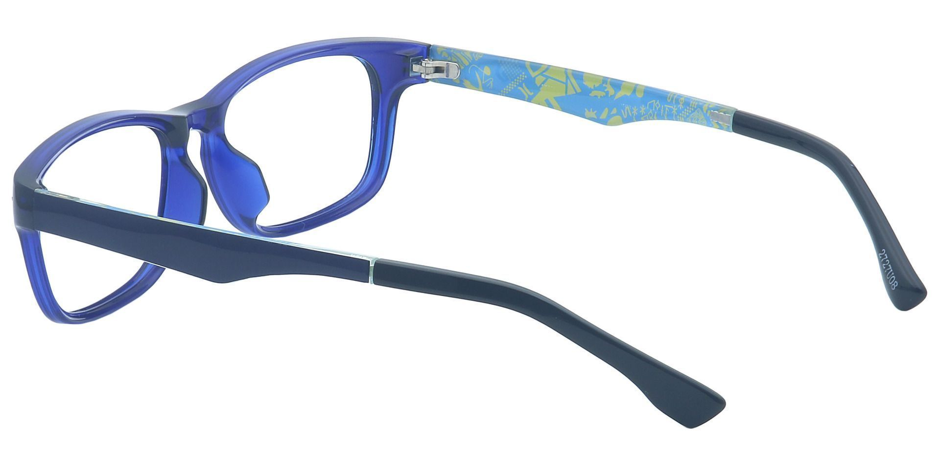 Charlie Rectangle Lined Bifocal Glasses - Blue