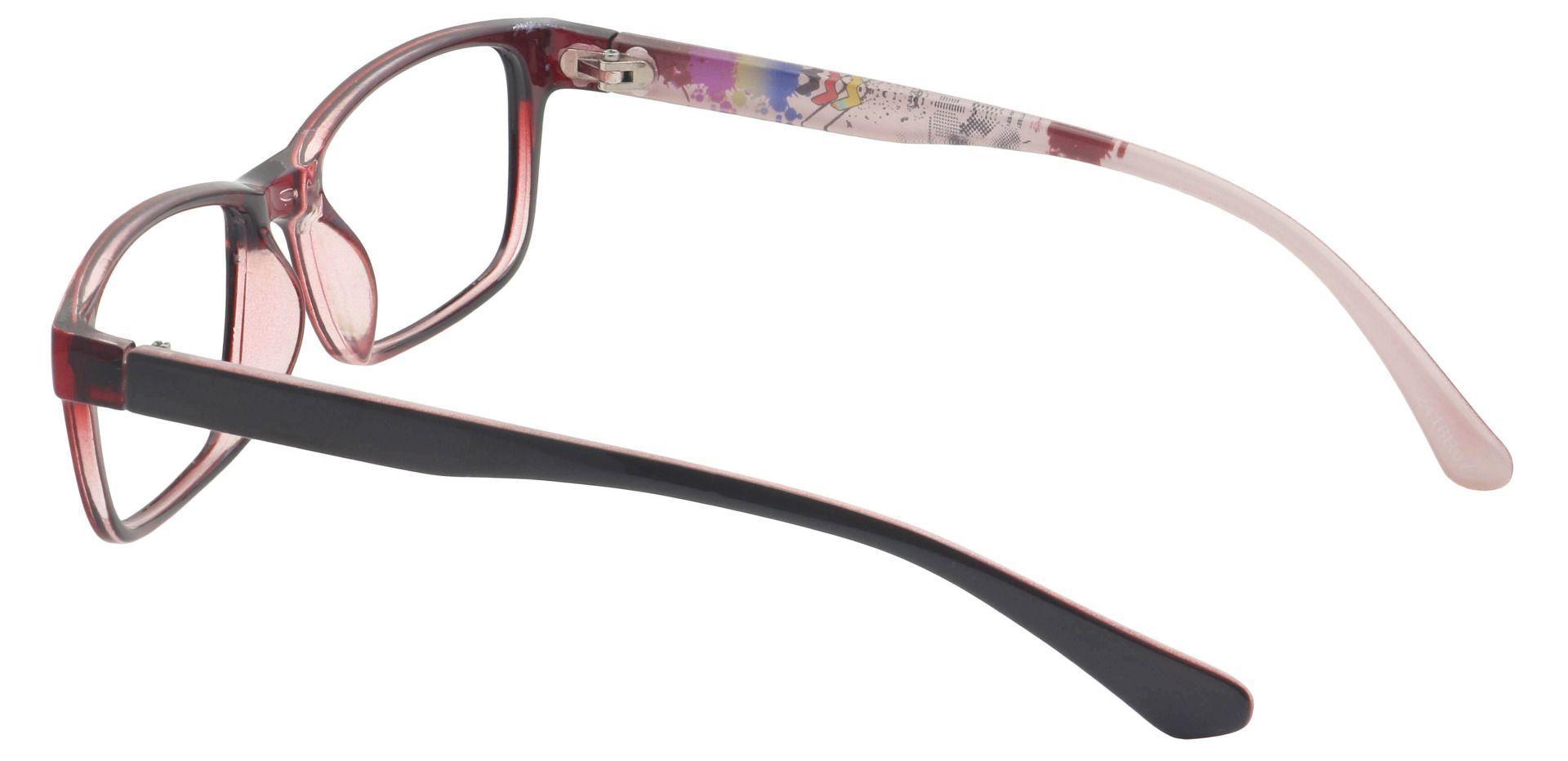 Patrice Rectangle Prescription Glasses - Red