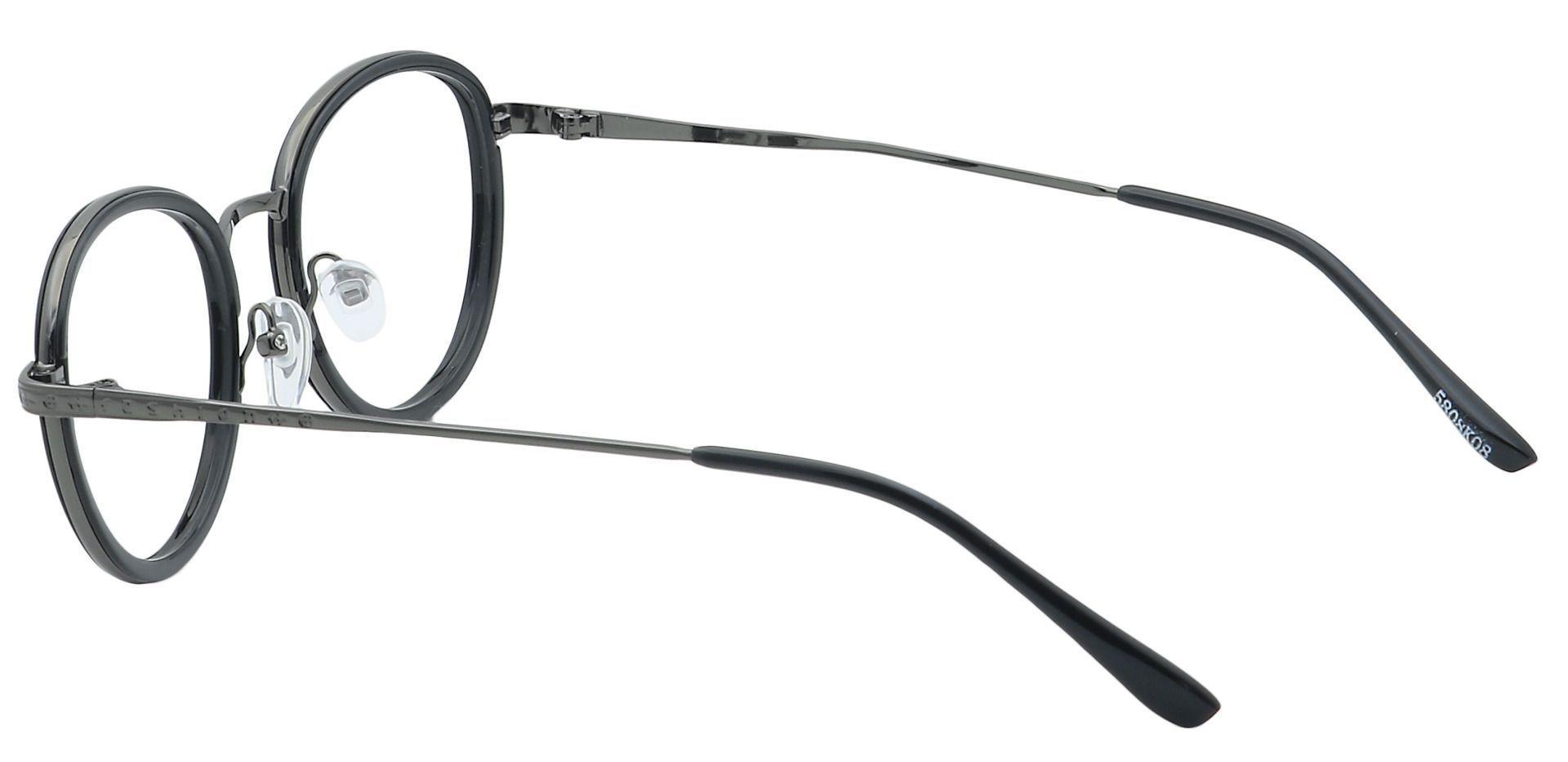 Gage Oval Non-Rx Glasses - Black