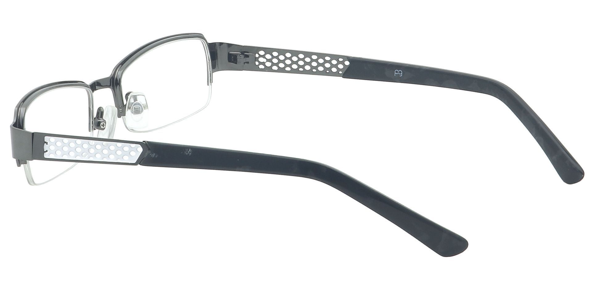 Rory Rectangle Single Vision Glasses - Gray