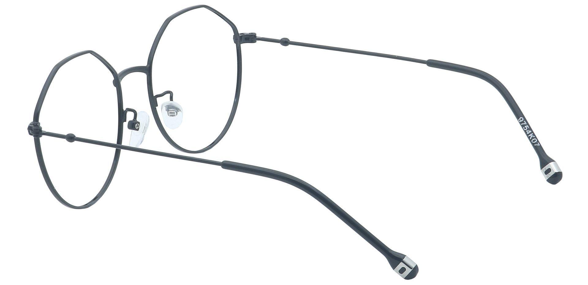Reginald Round Eyeglasses Frame - Black