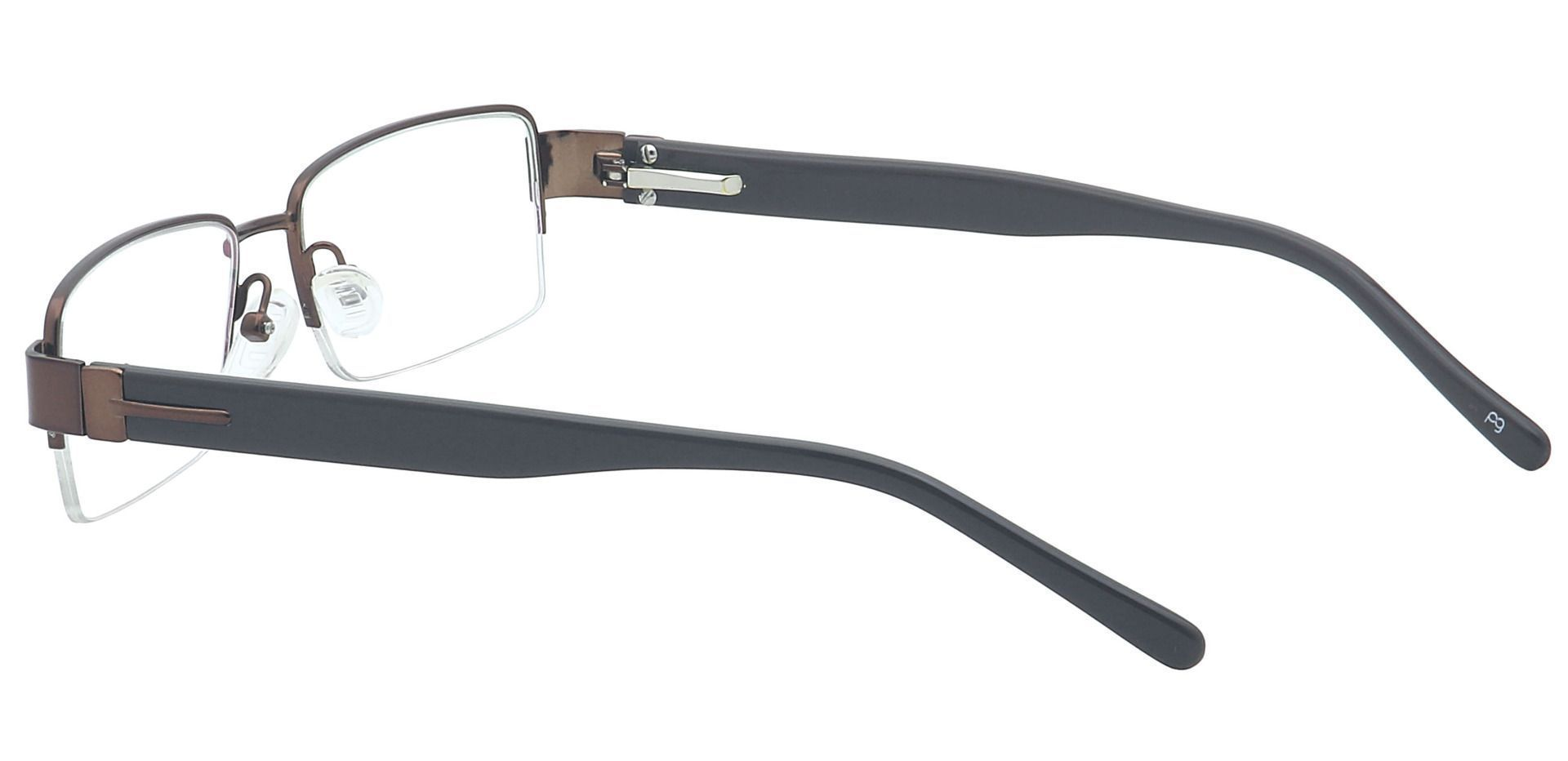 Roger Rectangle Lined Bifocal Glasses - Brown