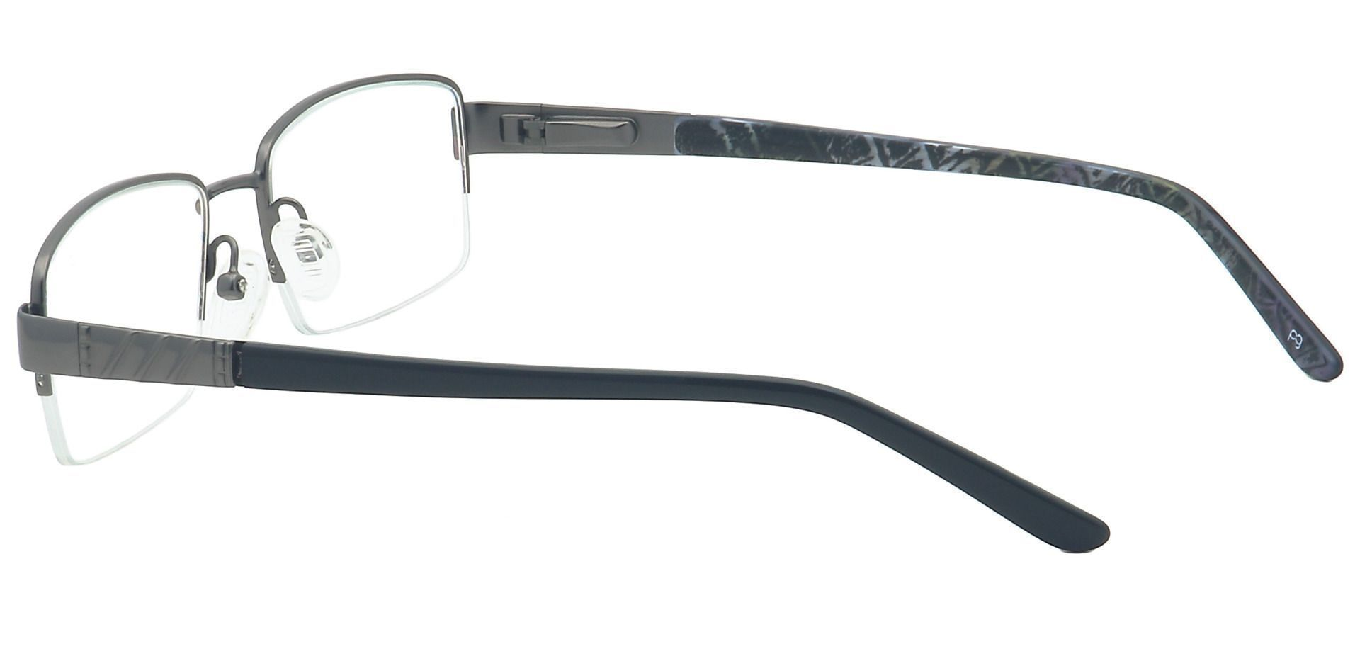 Rich Rectangle Lined Bifocal Glasses - Gray