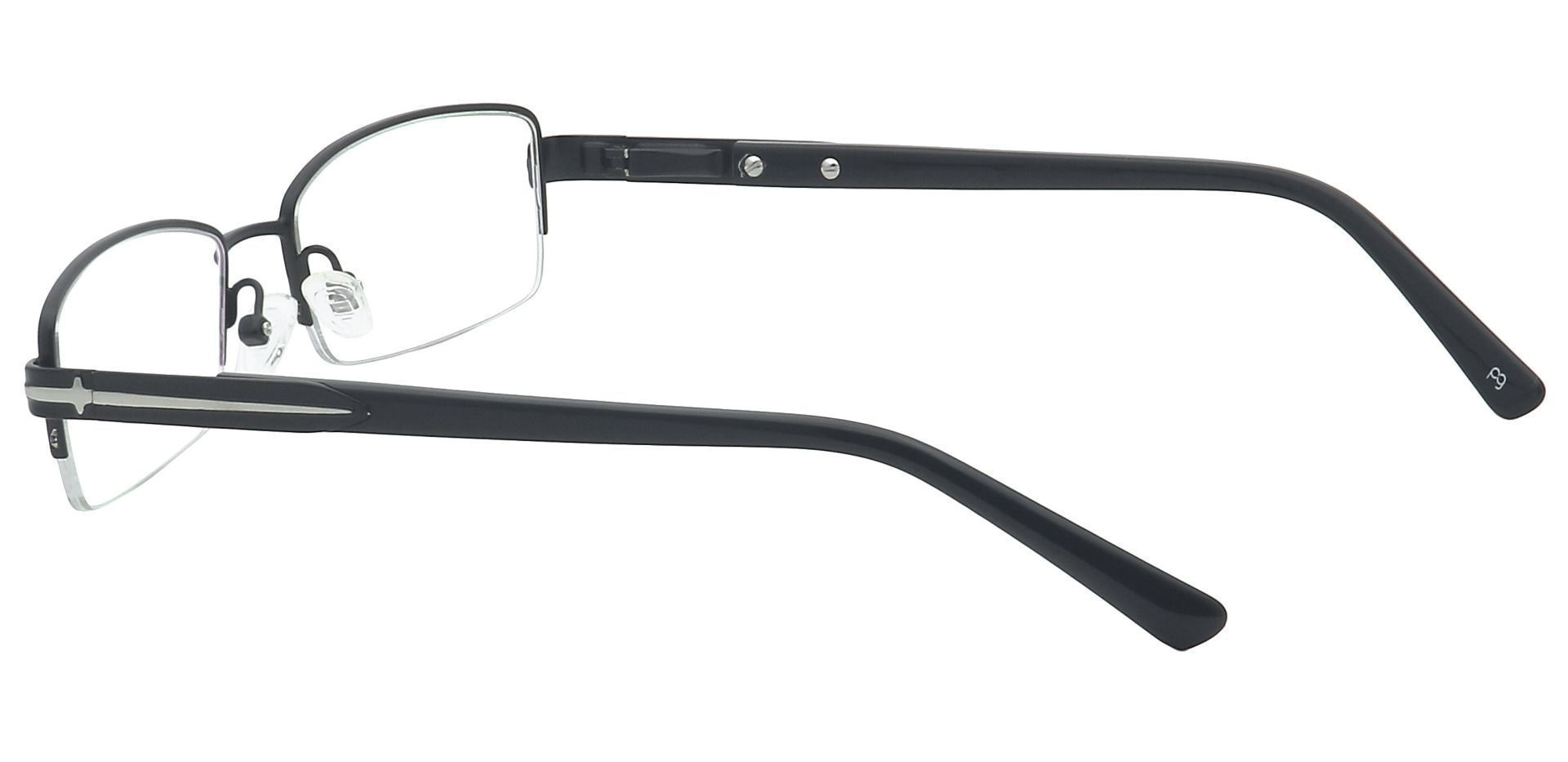 Reed Rectangle Prescription Glasses - Black