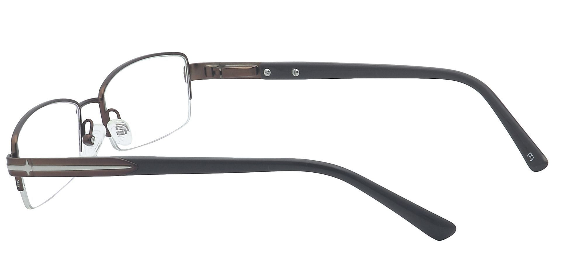 Reed Rectangle Reading Glasses - Brown
