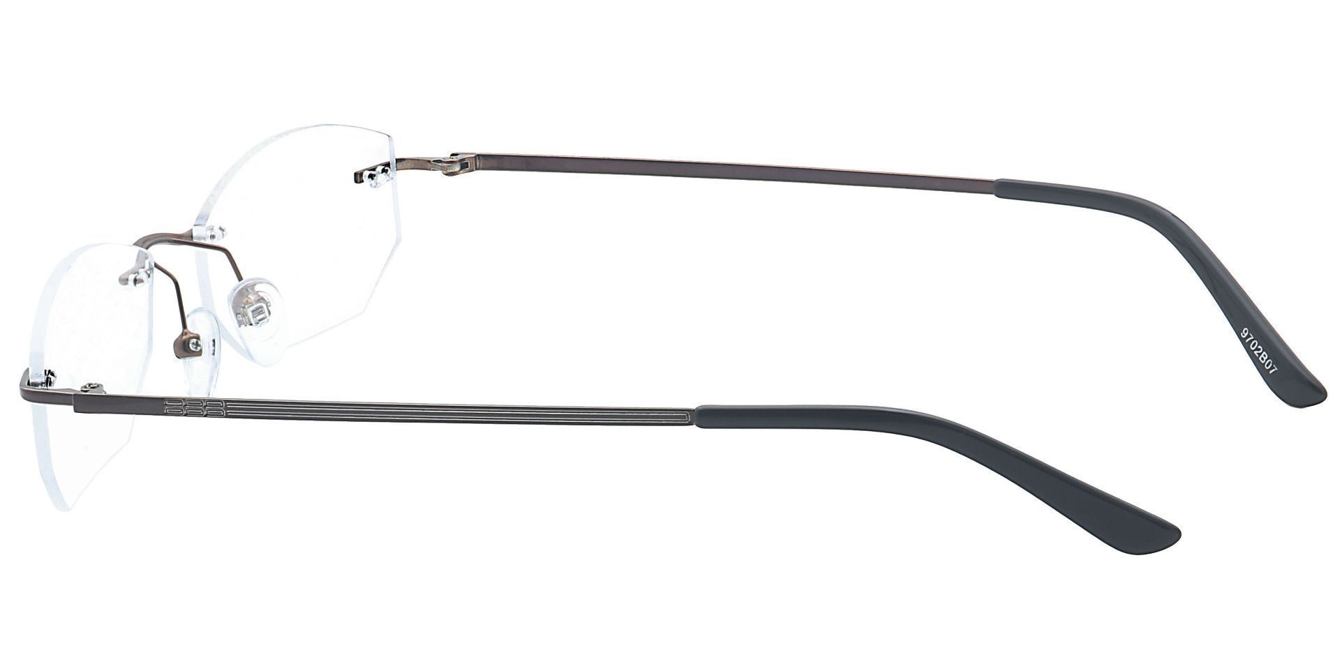 Raul Rimless Lined Bifocal Glasses - Brown
