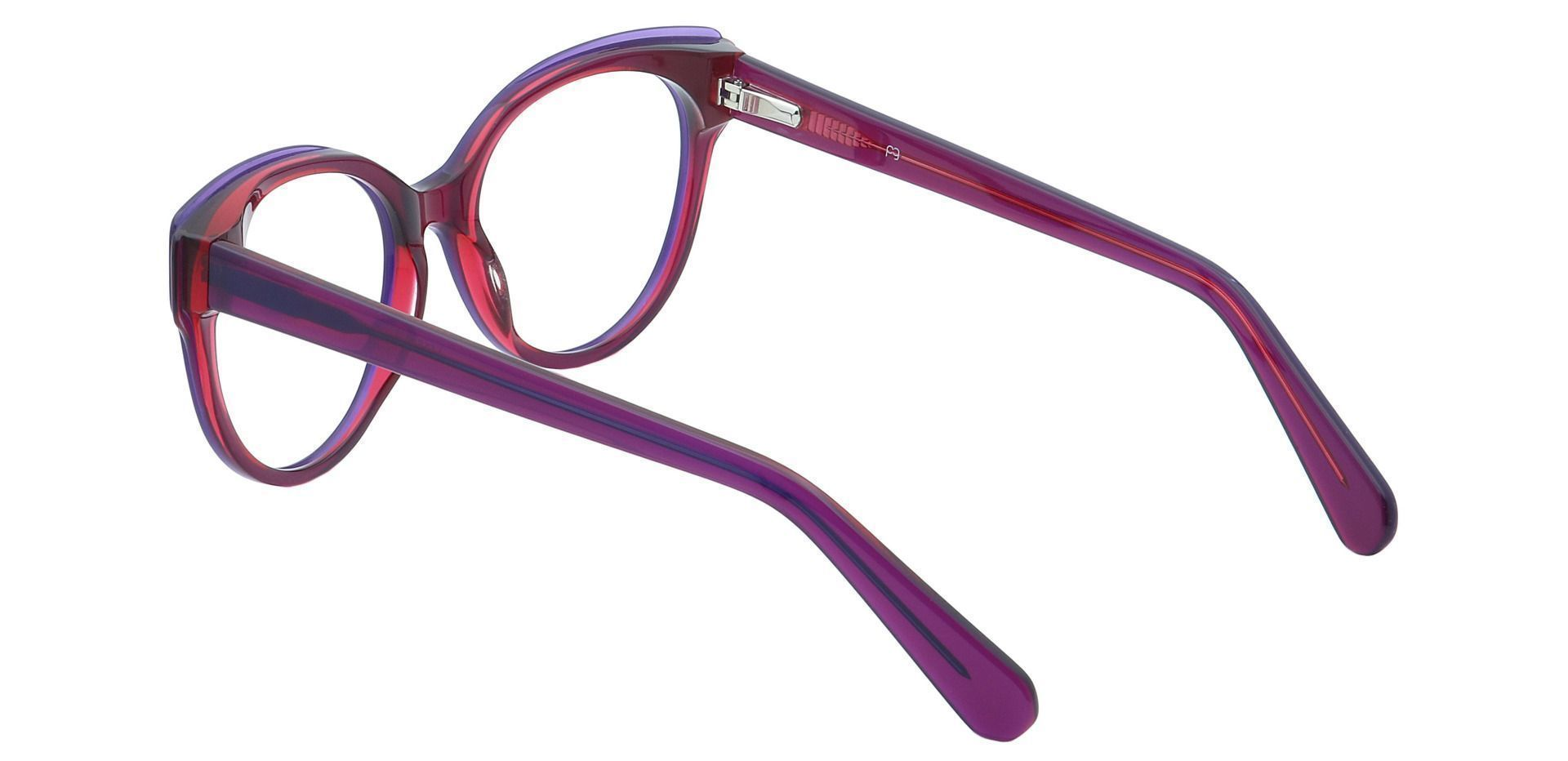 DJ Oval Lined Bifocal Glasses - Red