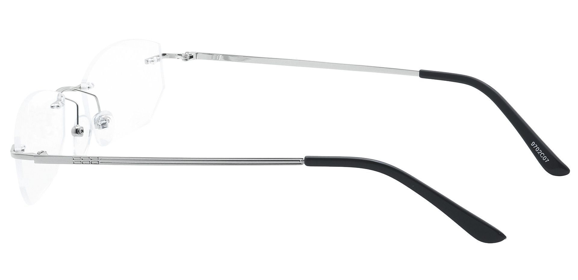 Raul Rimless Non-Rx Glasses - Clear