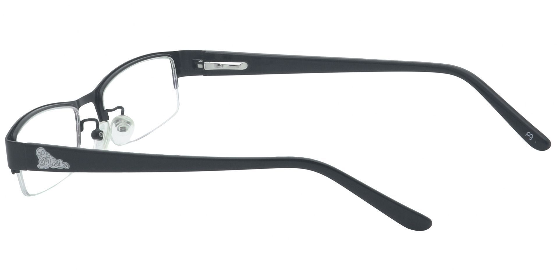 Ringo Rectangle Single Vision Glasses - Black