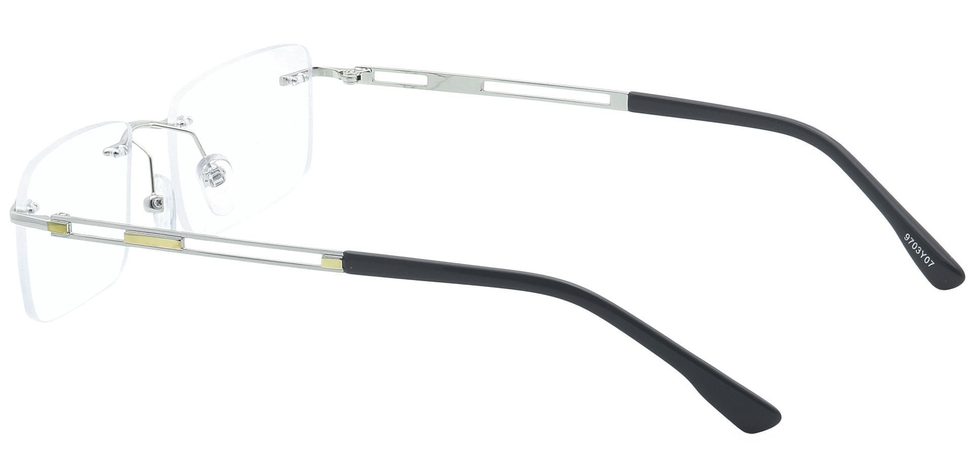 Ricky Rimless Blue Light Blocking Glasses - Yellow