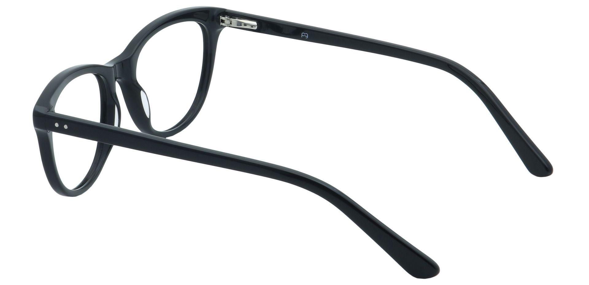 Ore Oval Prescription Glasses - Black